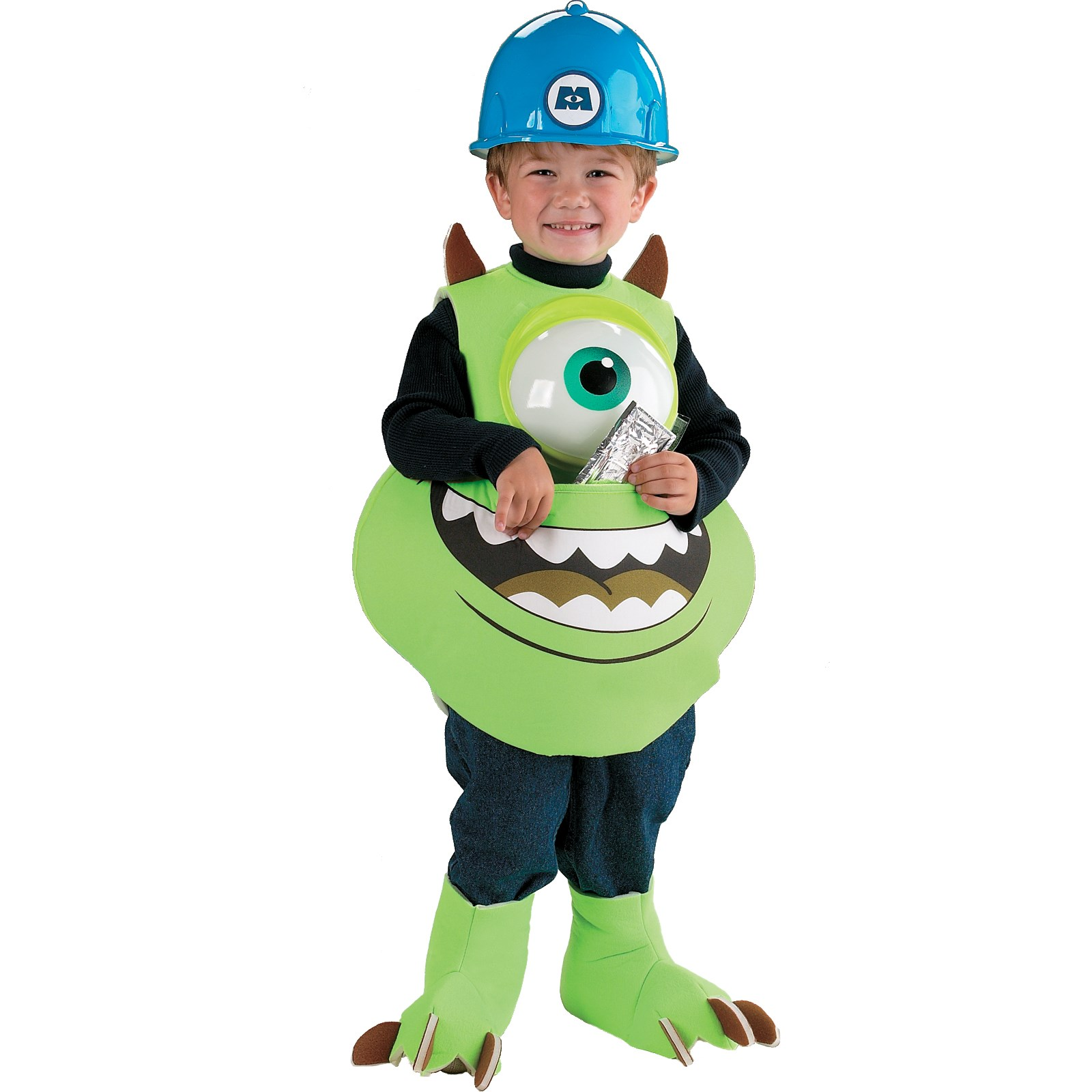 Monsters Inc. Disney Mike Candy Catcher Child Costume Small (Up to a Size 6)