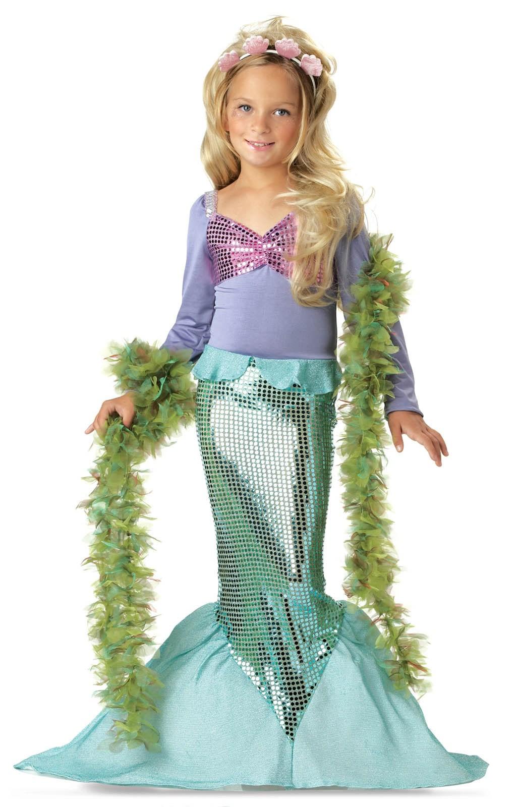 Image of Lil' Mermaid Toddler / Child Costume Child Medium (8-10)