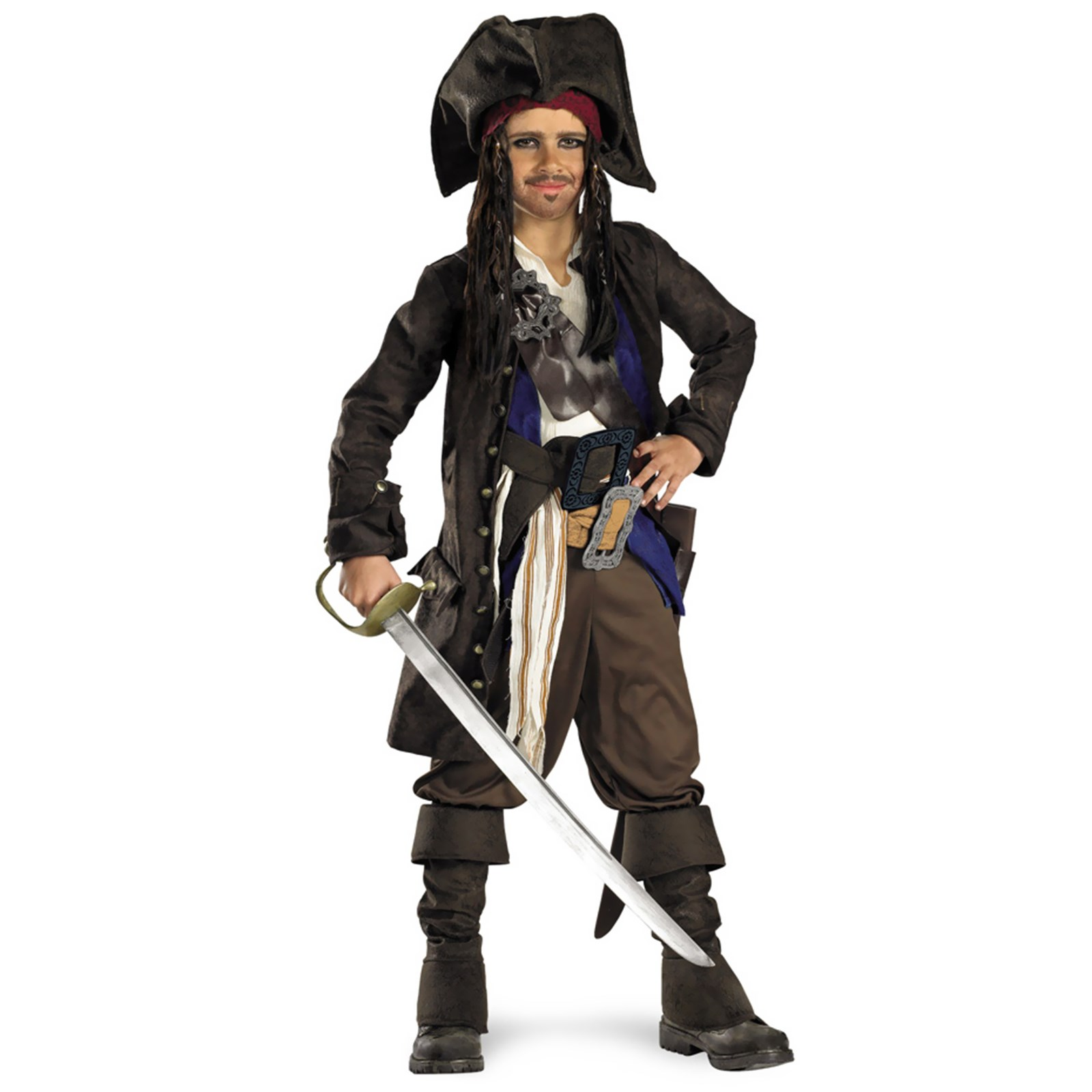 Pirates of the Caribbean - Captain Jack Sparrow Prestige Child Costume Large (10-12)