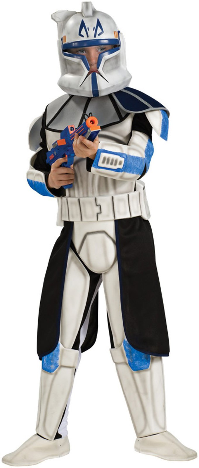 Star Wars Animated Deluxe Clone Trooper Captain Rex Child Costume Large