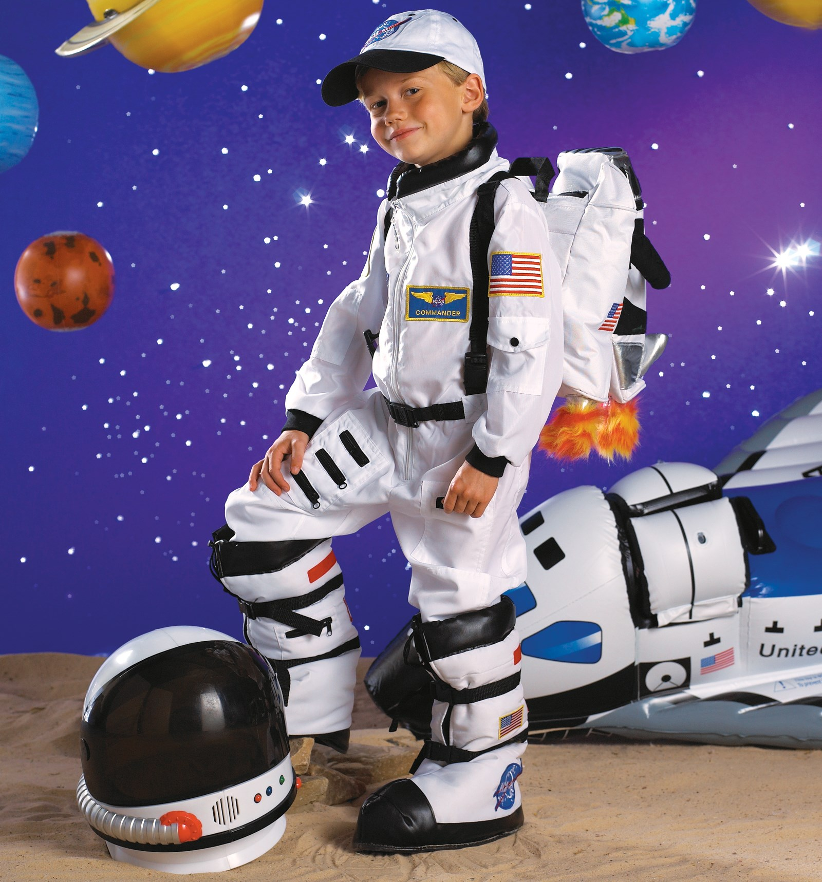 Astronaut (White) Toddler / Child Costume 4-6