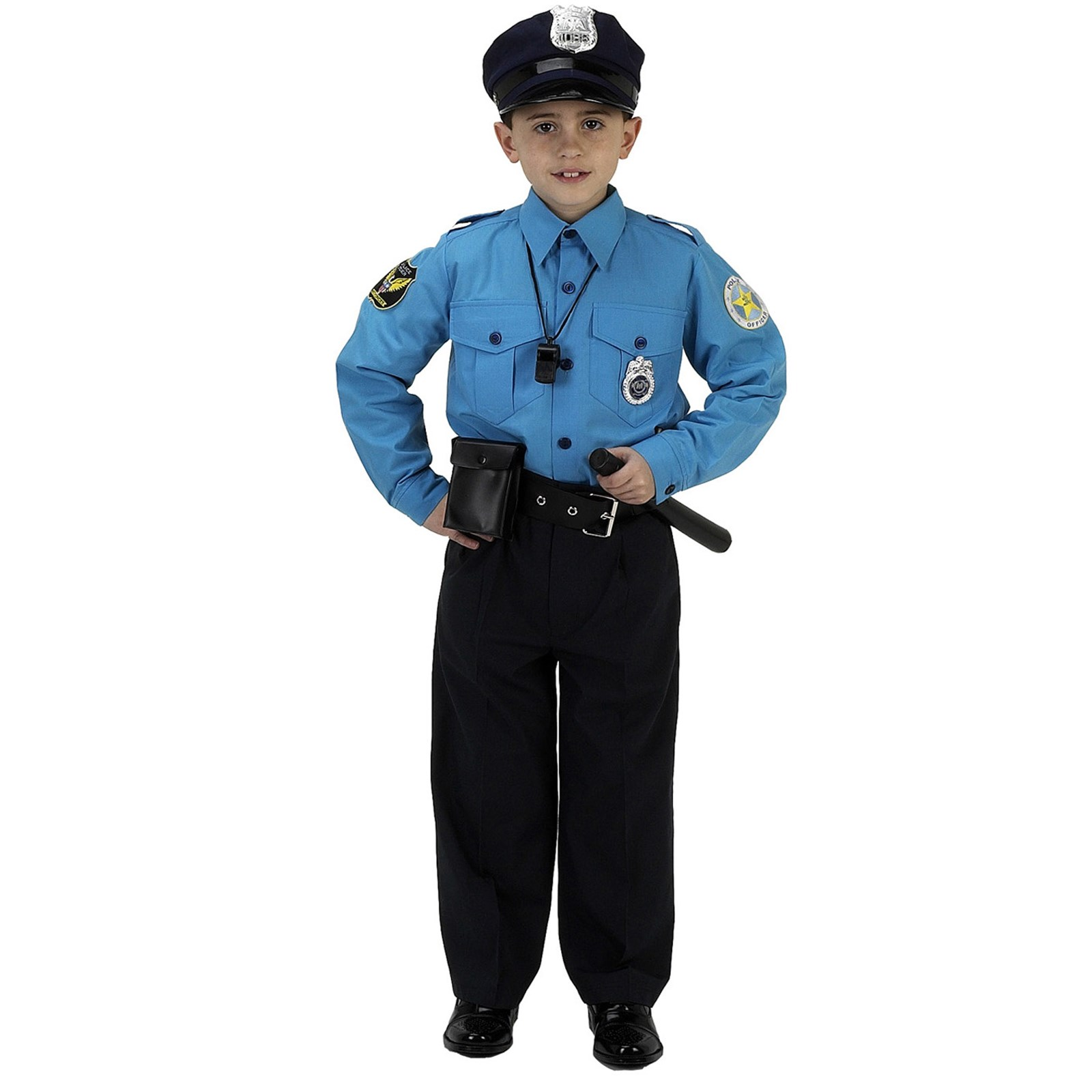 Jr. Police Officer Suit Child Costume Medium (8-10)