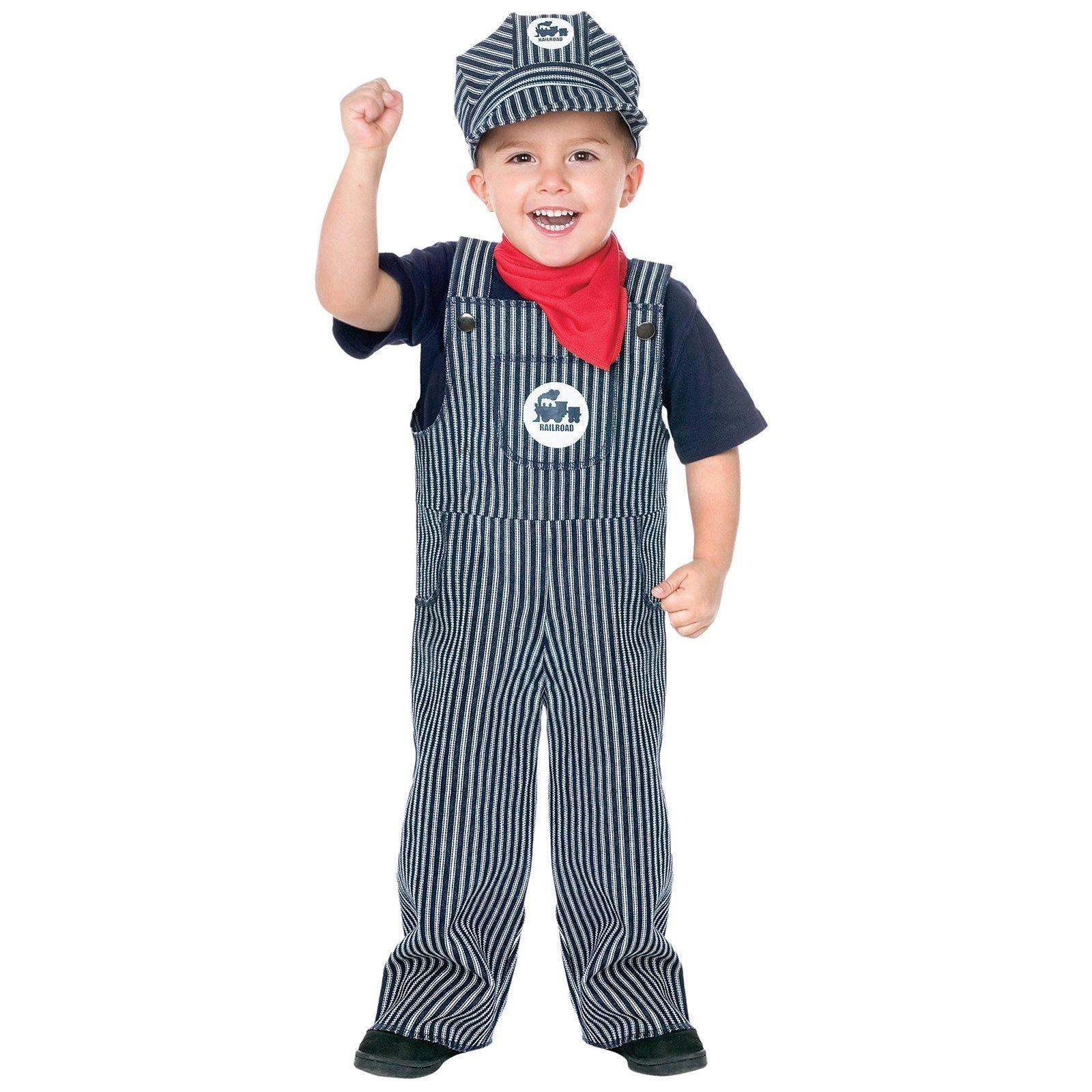 Train Engineer Suit Toddler / Child Costume Small (4-6)