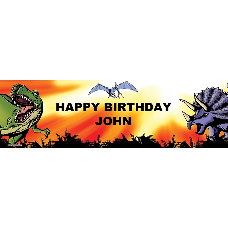 Dinosaurs Personalized Birthday Banner
