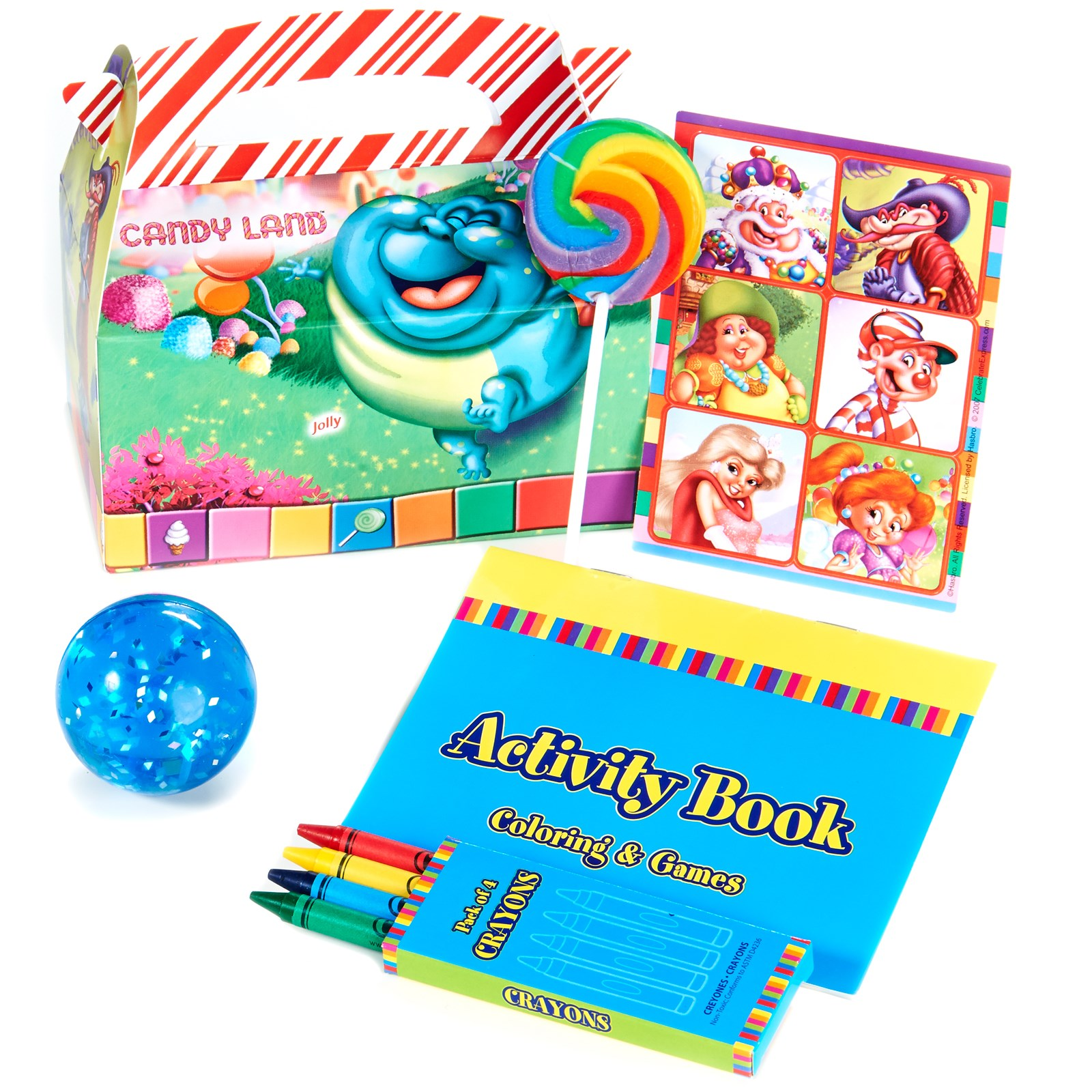 Candy Land Filled Party Favor Box