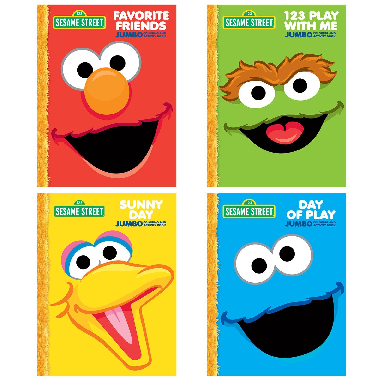 Image of Sesame Street Jumbo Activity Coloring Book