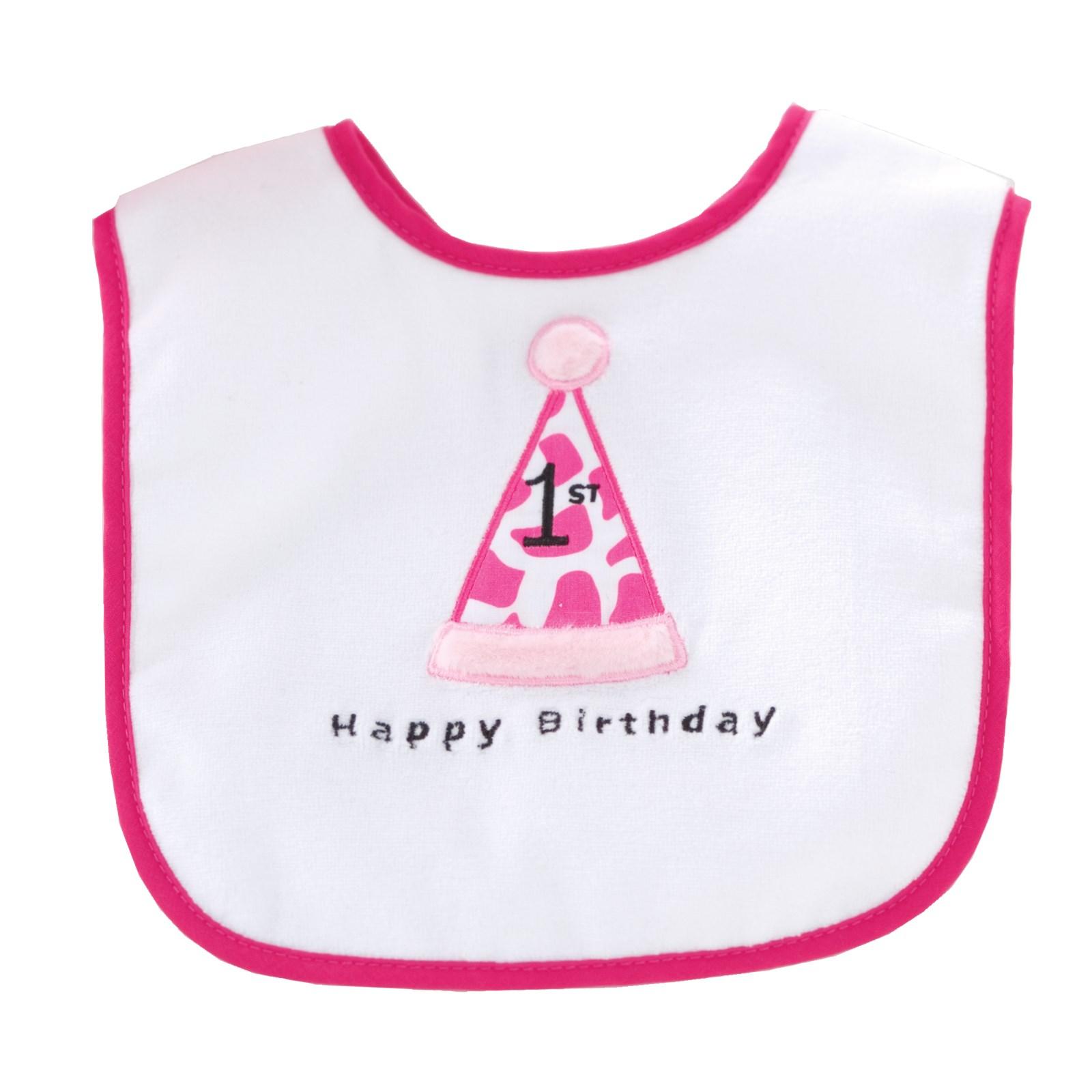 Image of 1st Birthday Diva Cone Hat Bib