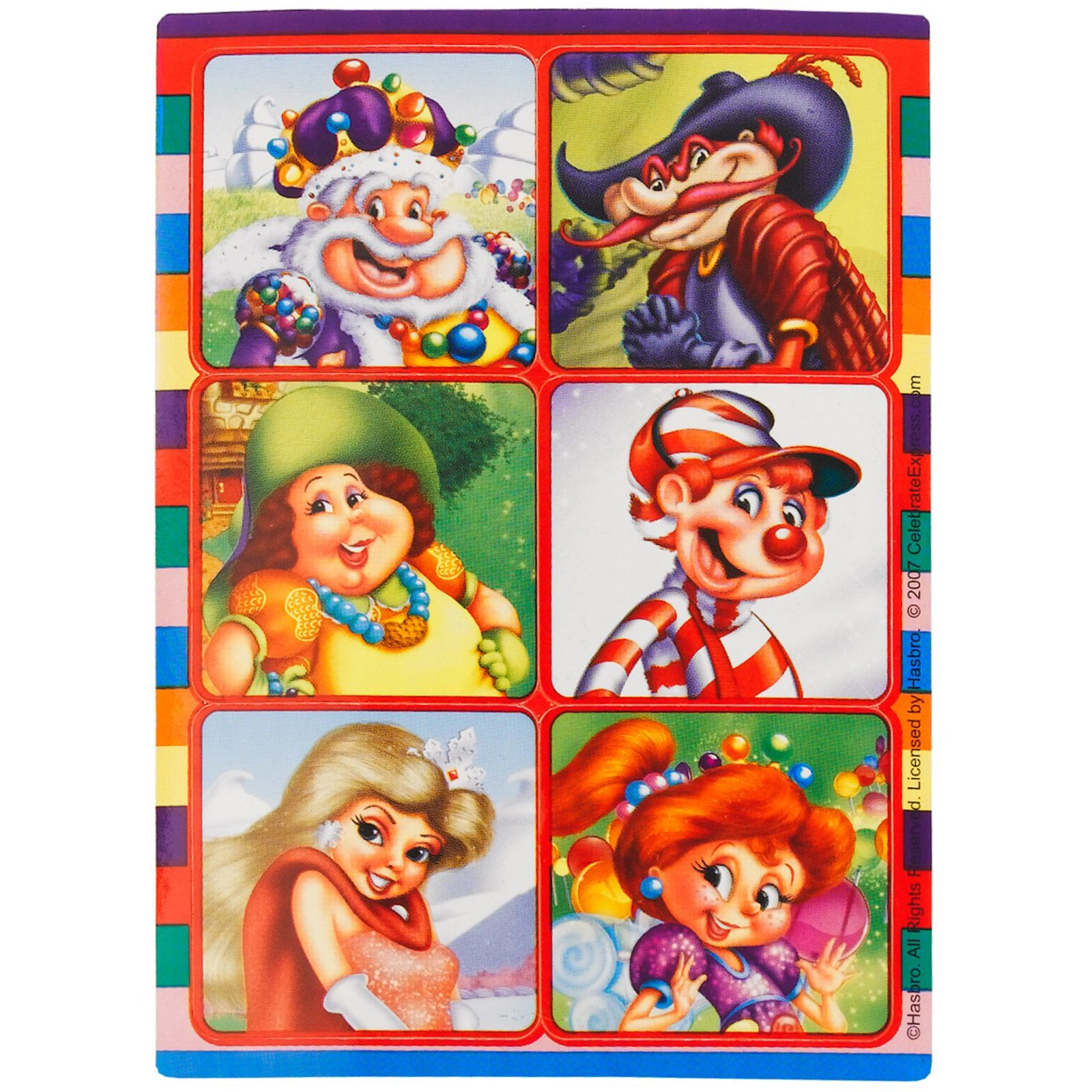 Candy Land Sticker Sheets