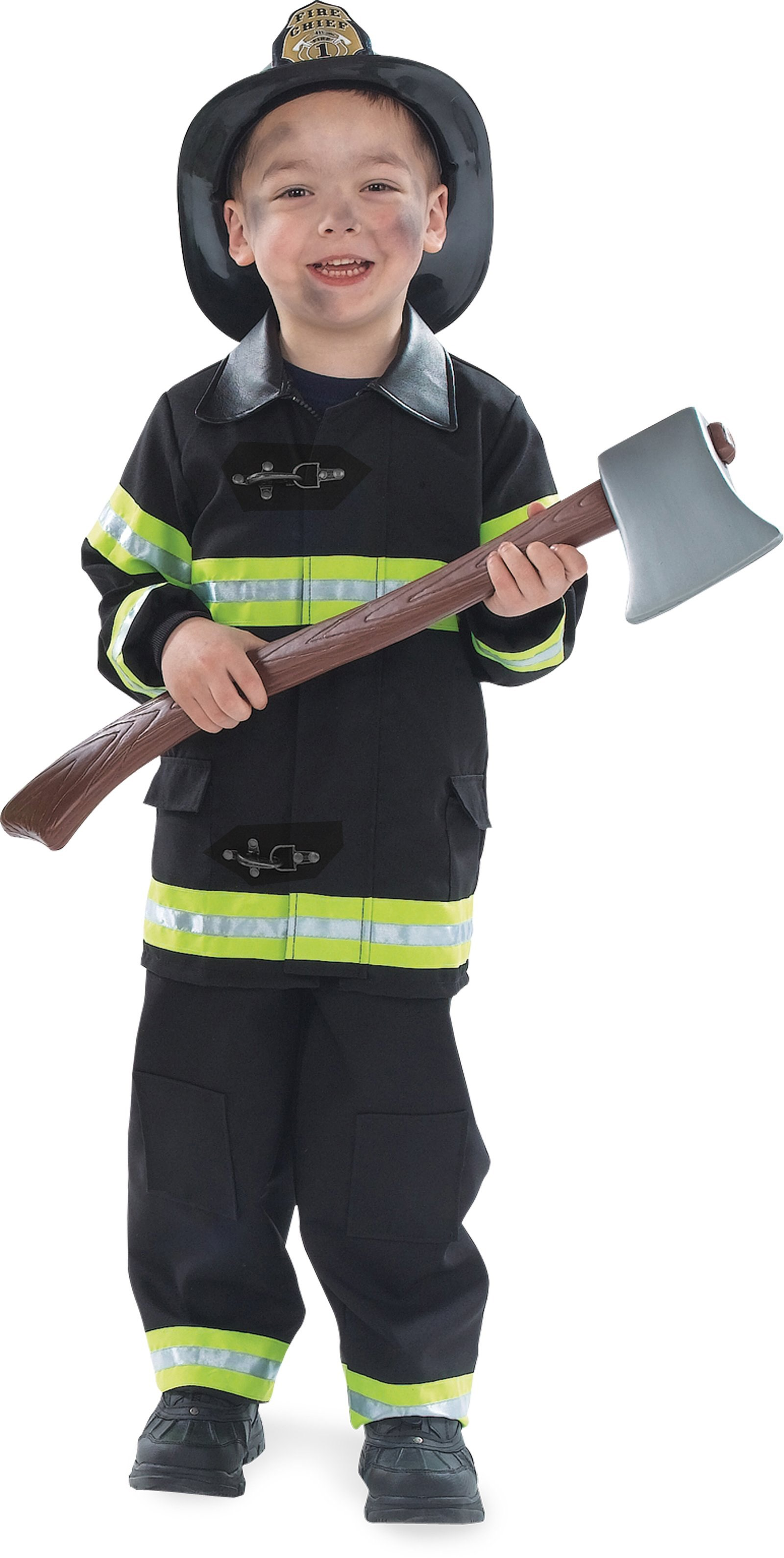 Firefighter Costume Toddler/Child (Black) Small (4-6)