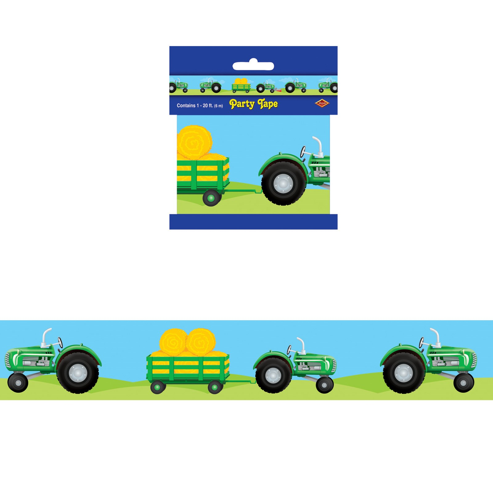 Image of 20' Tractor Party Tape