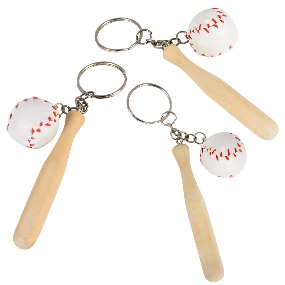 Image of Baseball and Bat Keychains