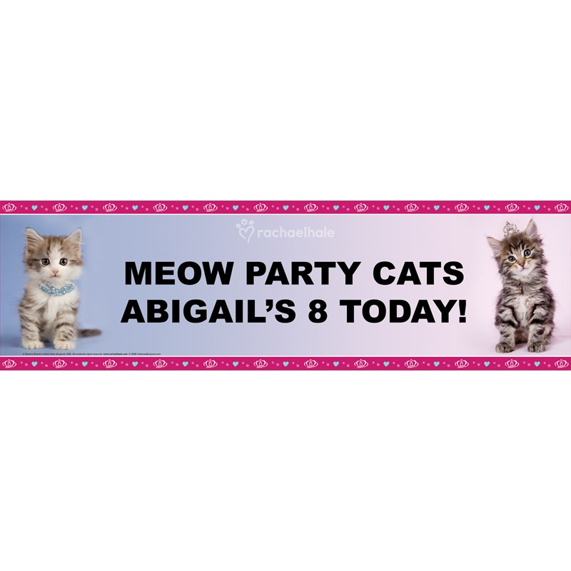 rachaelhale Glamour Cats Personalized Birthday Banner