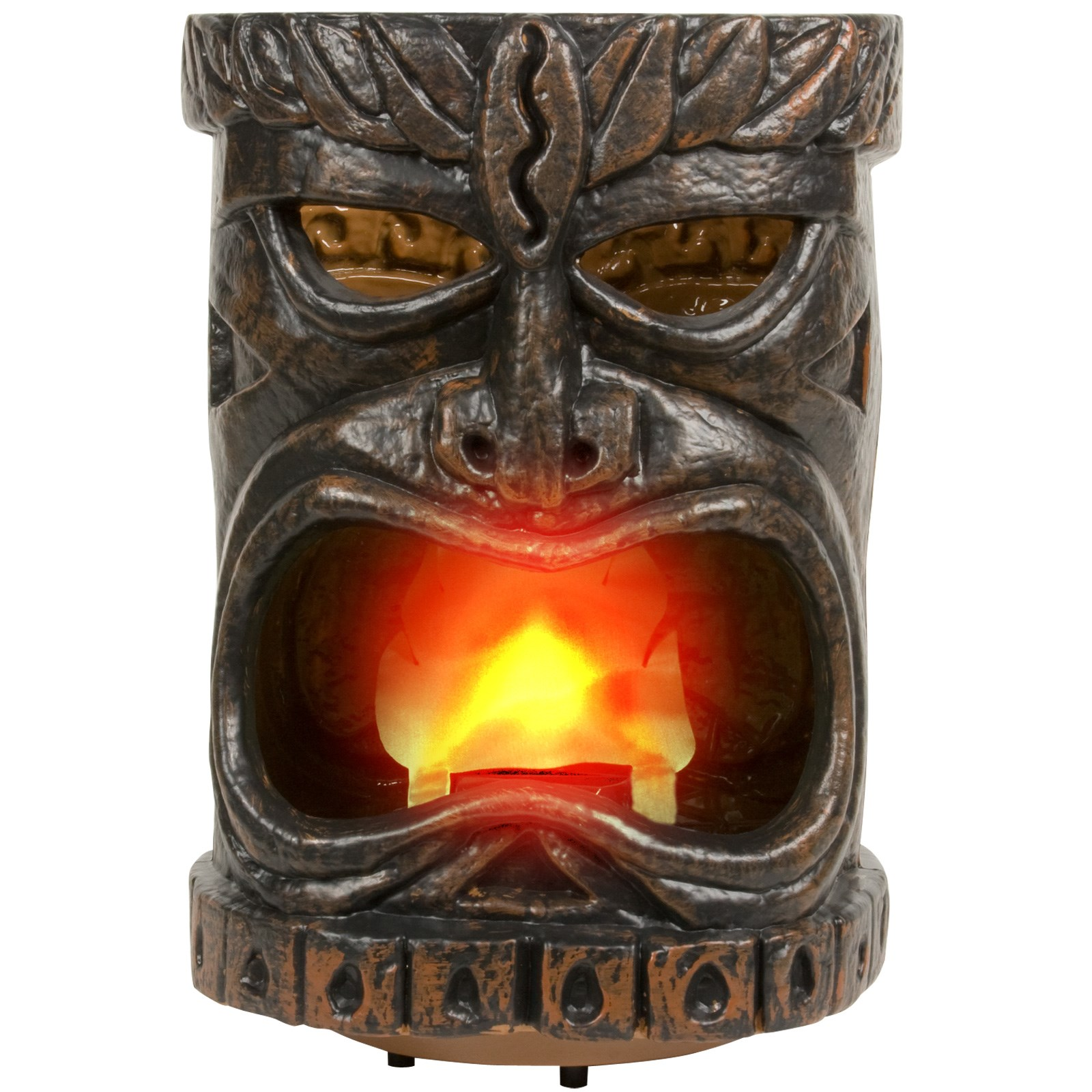 "Image of 12"" Plastic Flaming Tiki Head"