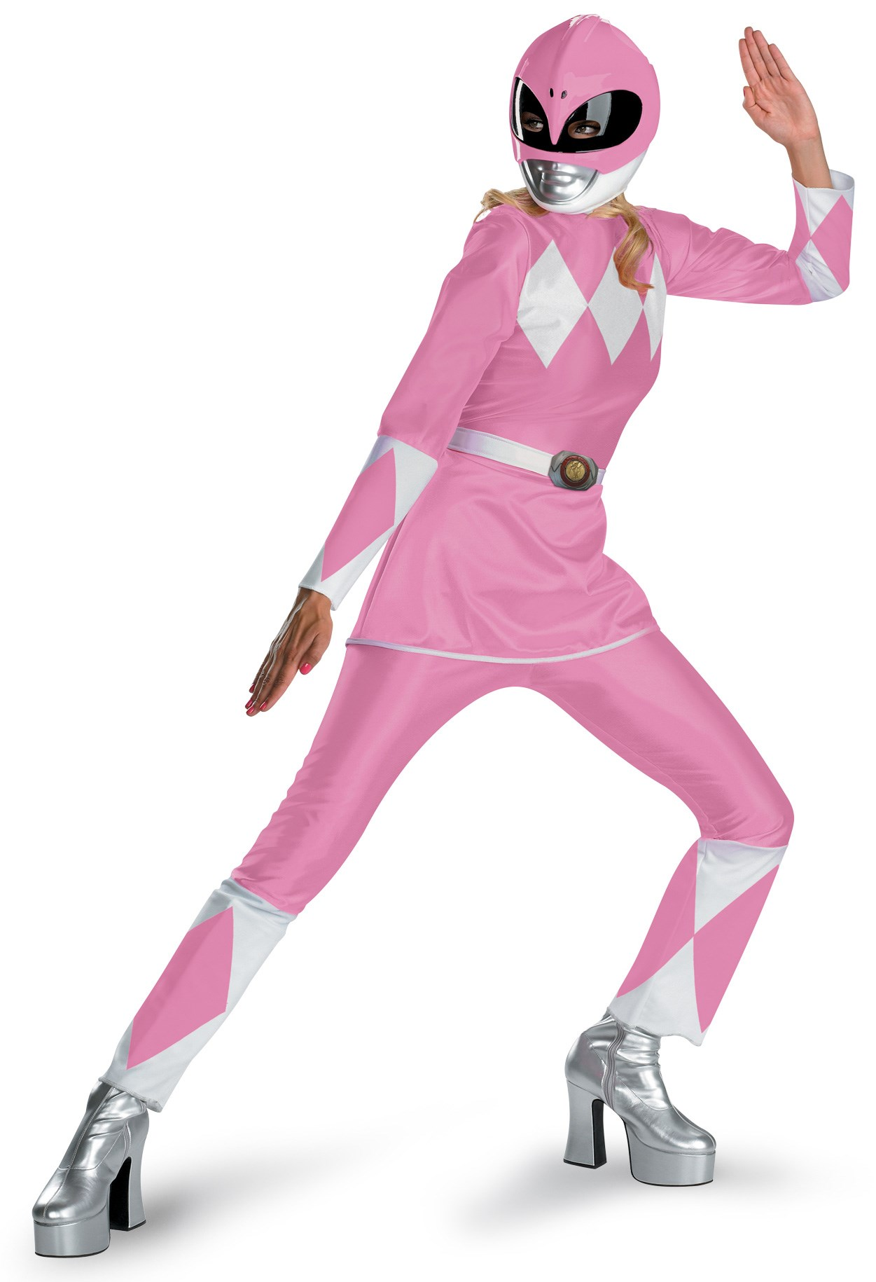 Power Rangers Pink Ranger Deluxe Adult Costume Large (12-14)