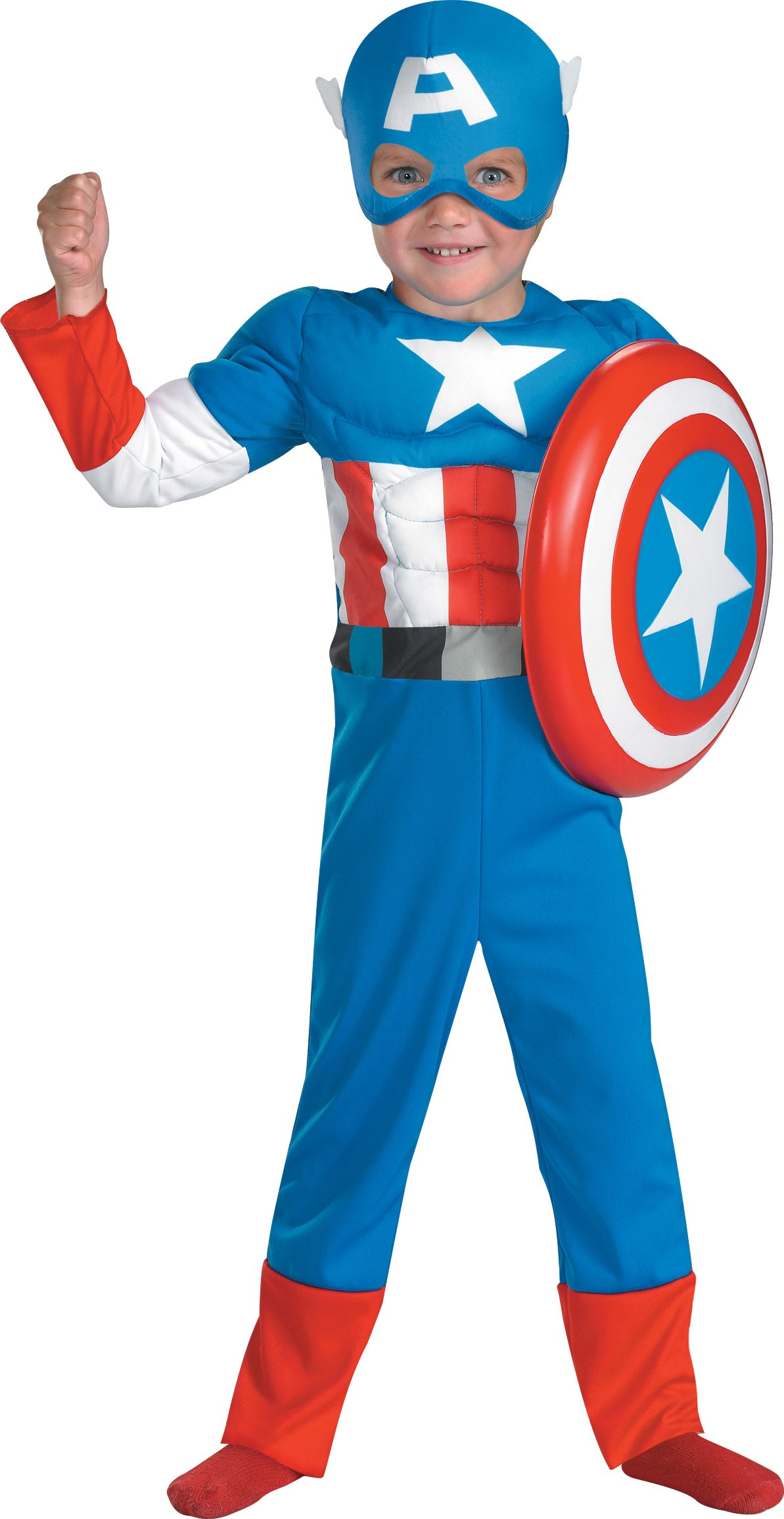 Captain America Muscle Toddler Costume Toddler (3T-4T)