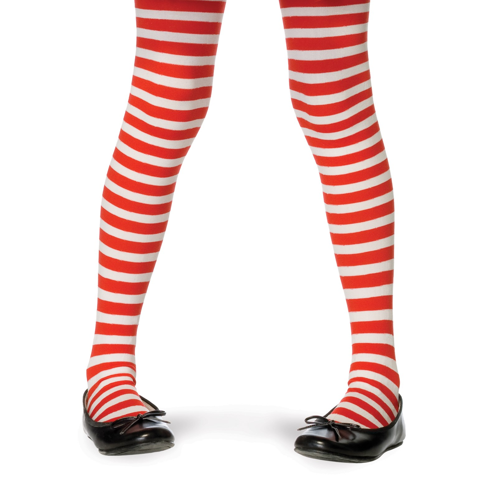 Striped Tights (Red/White) Child Large (7/10)