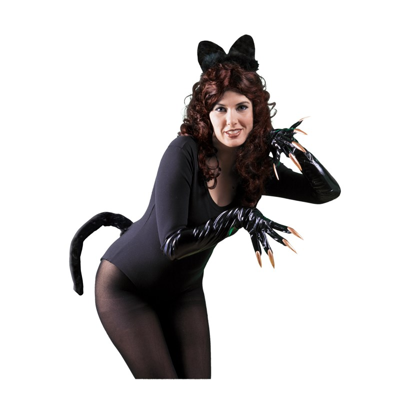 Black Cat Ears and Tail Child