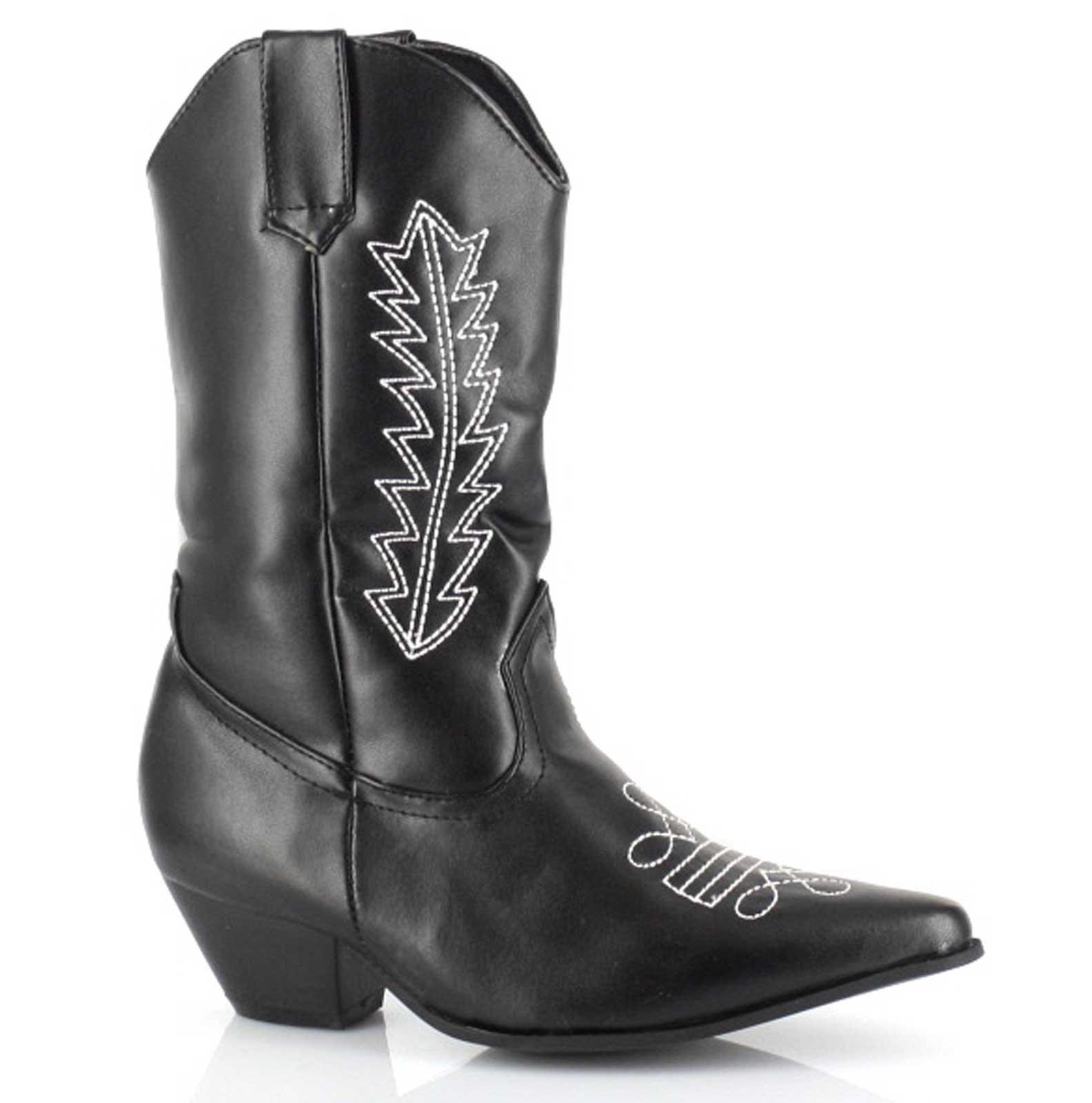 Image of Cowboy Boots (Black) Child Large (2/3)