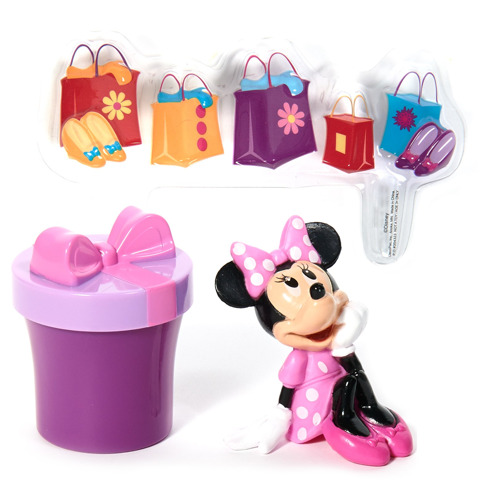 Disney Minnie Mouse Shopping Cake Topper