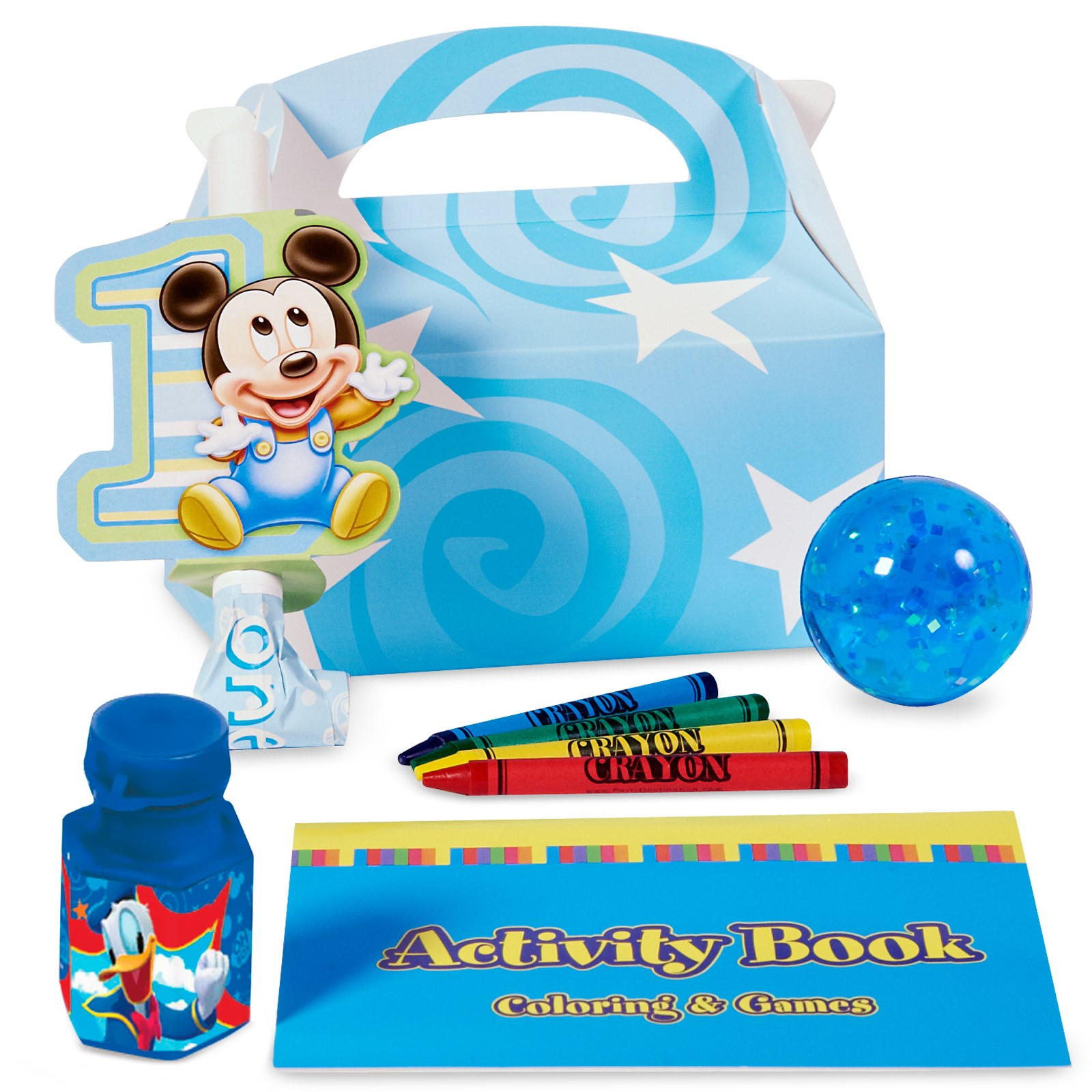 Image of Disney Mickey's 1st Birthday Party Favor Box