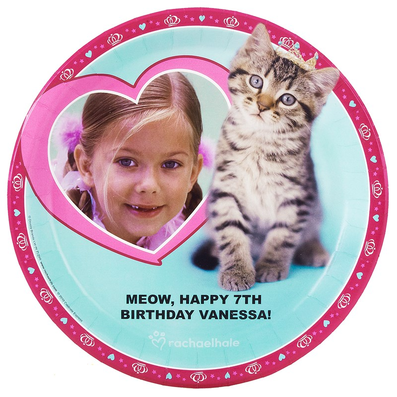 rachaelhale Glamour Cats Personalized Dinner Plates