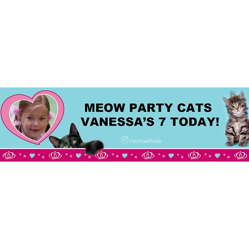 rachaelhale Glamour Cats Personalized Photo Banner