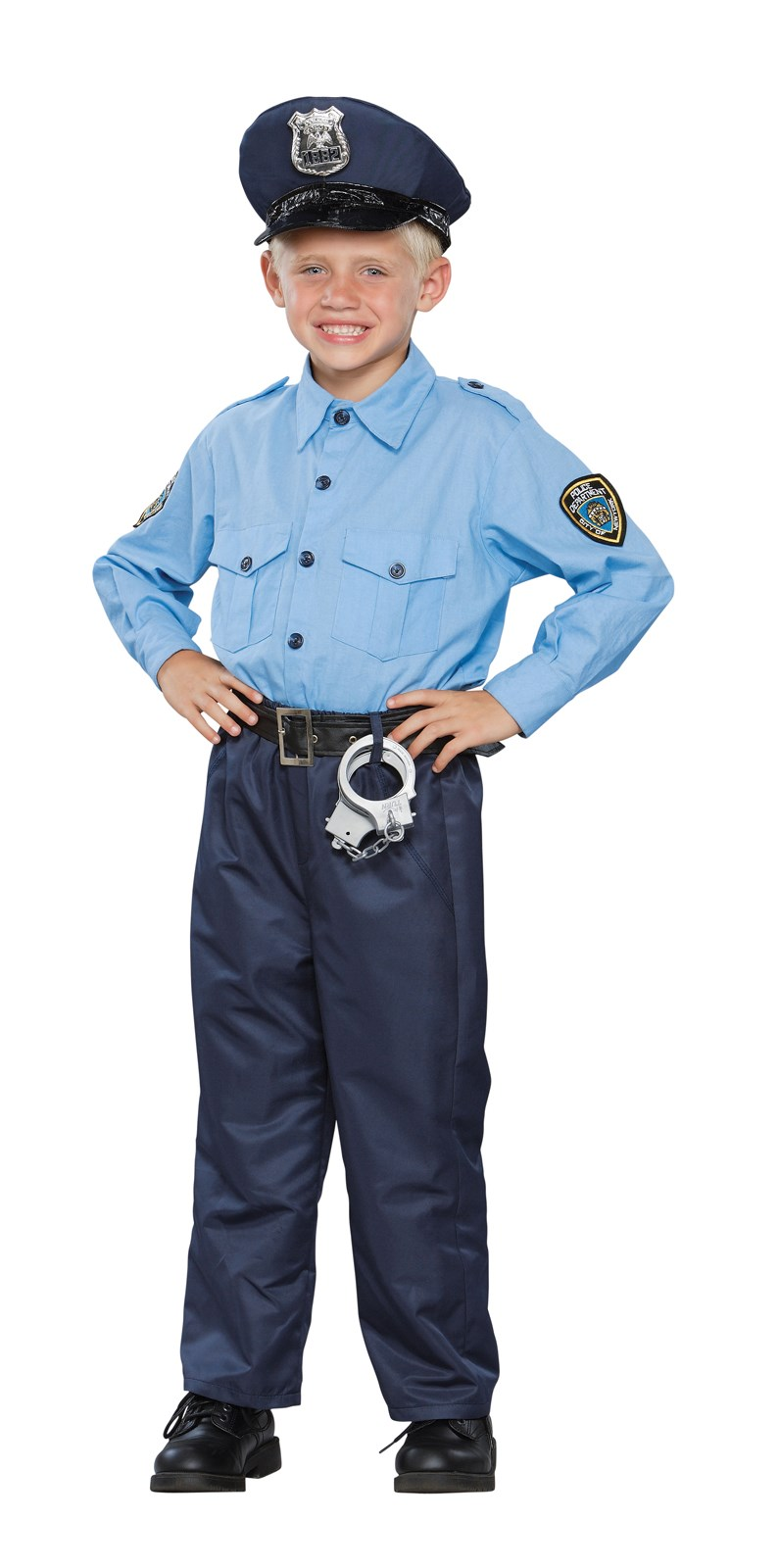 Deluxe Policeman Child Costume Small (4-6)