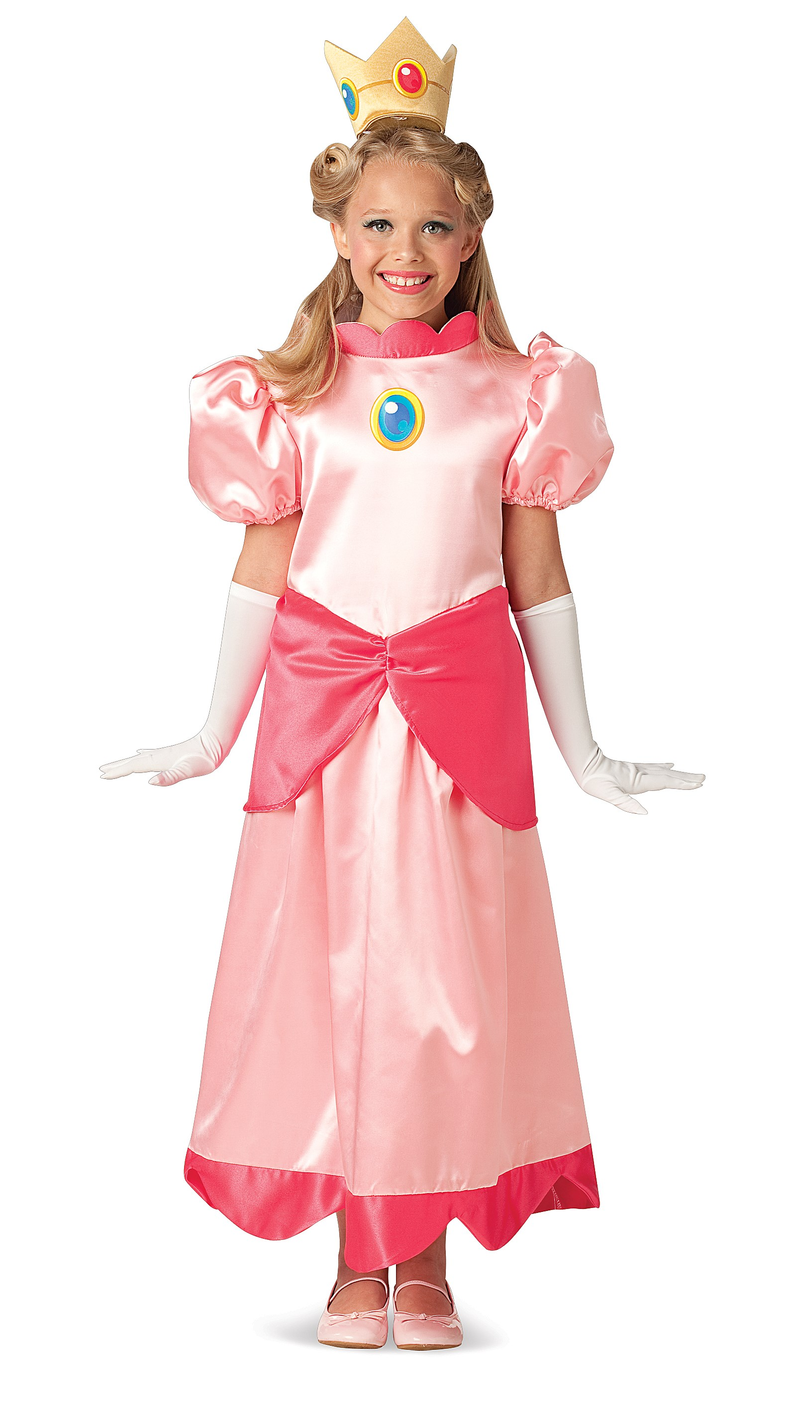 Super Mario Bros. Deluxe Princess Peach Child Costume Large (12-14)