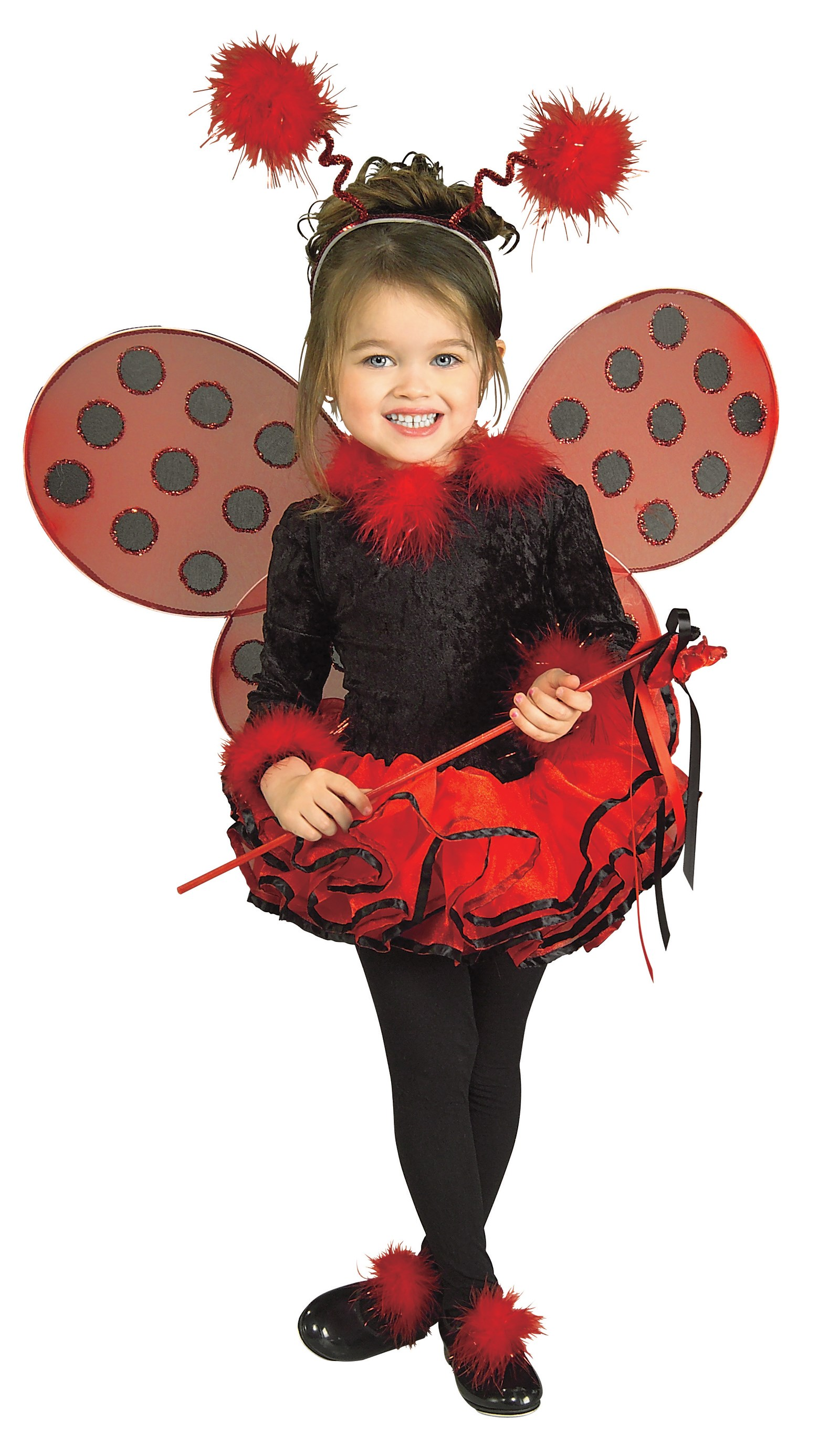 Deluxe Lady Bug Toddler / Child Costume Small 4-6