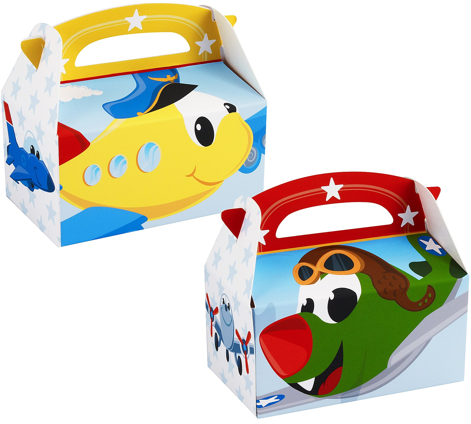 Image of Airplane Adventure Empty Favor Boxes