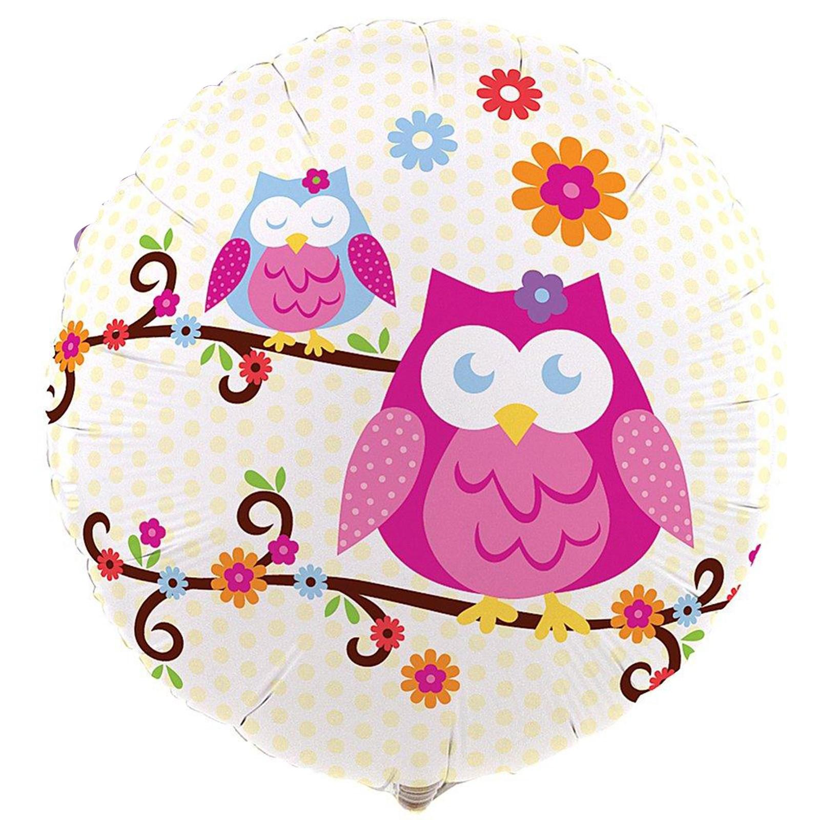 Owl Blossom Foil Balloon kids birthday partyware