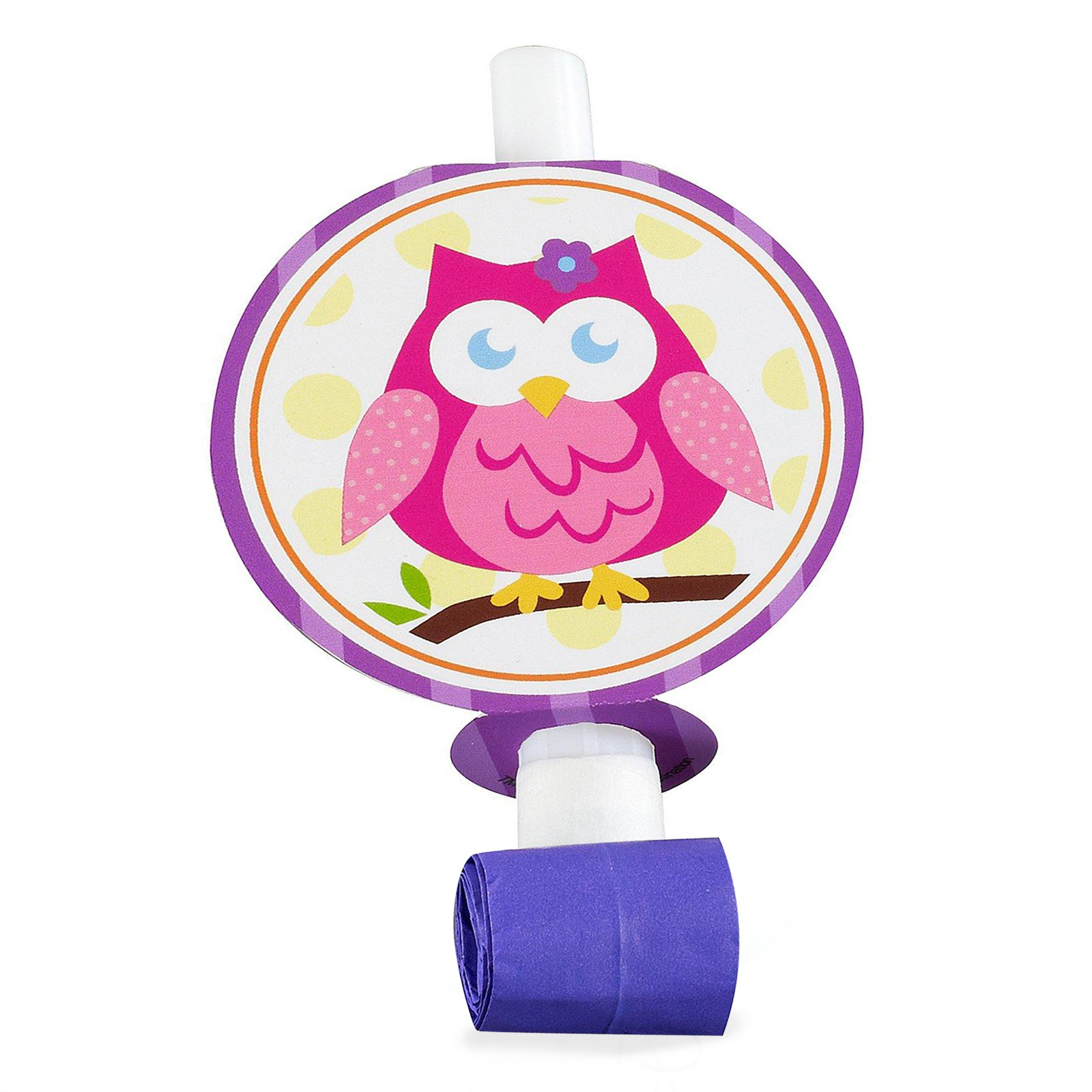 Owl Blossom Blowouts kids birthday partyware