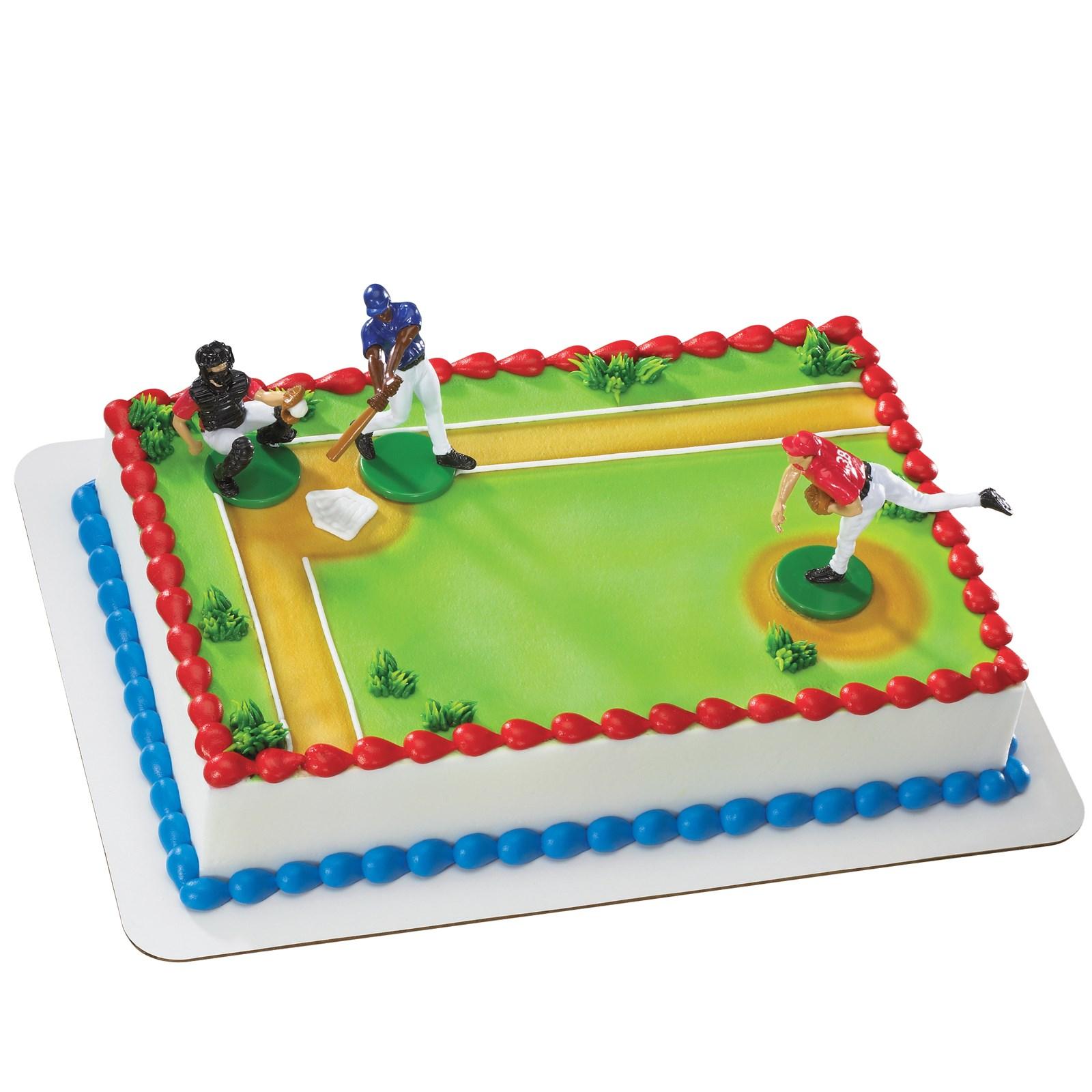 Image of Baseball Player Cake Decorations