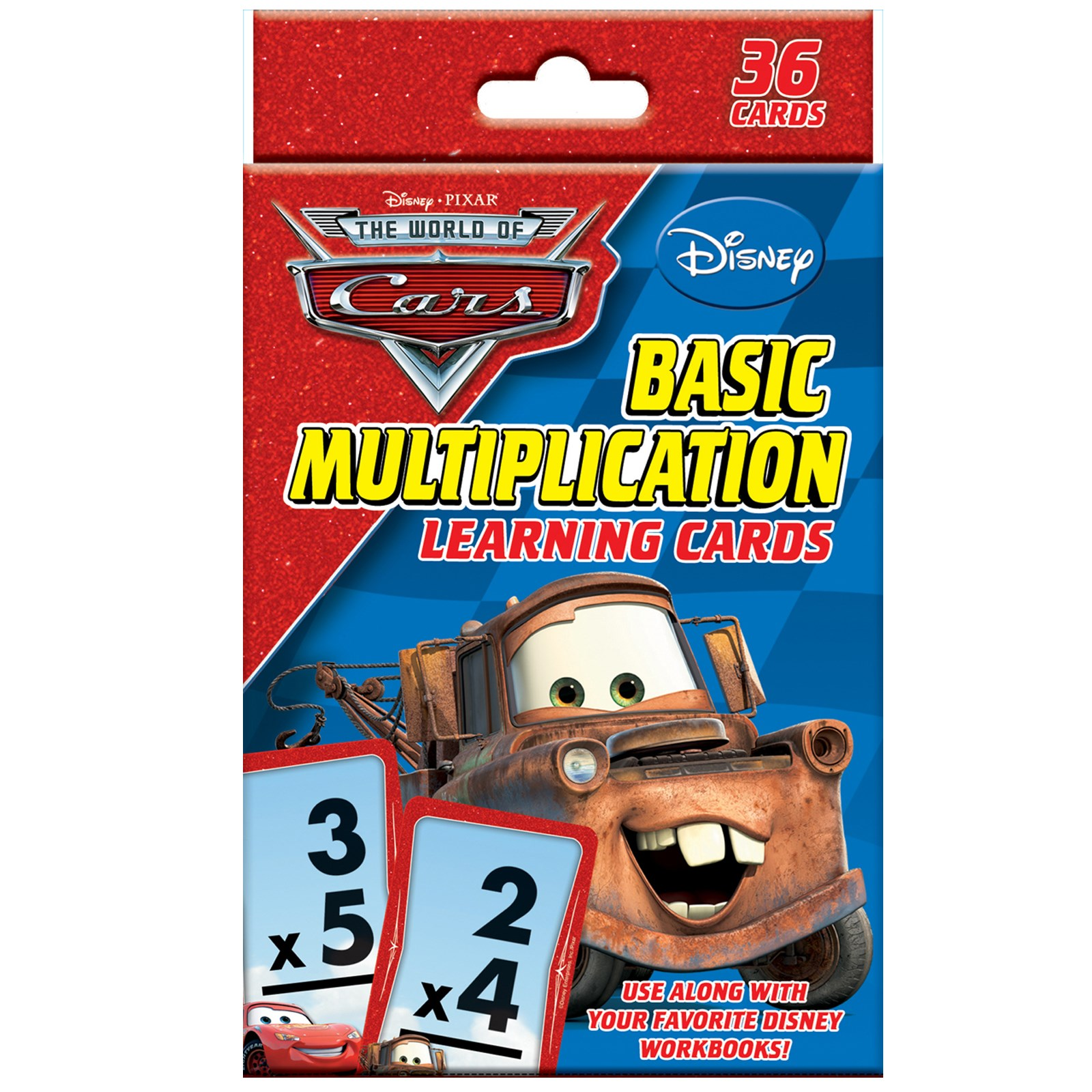 Image of Disney Cars Multiplication Learning Cards