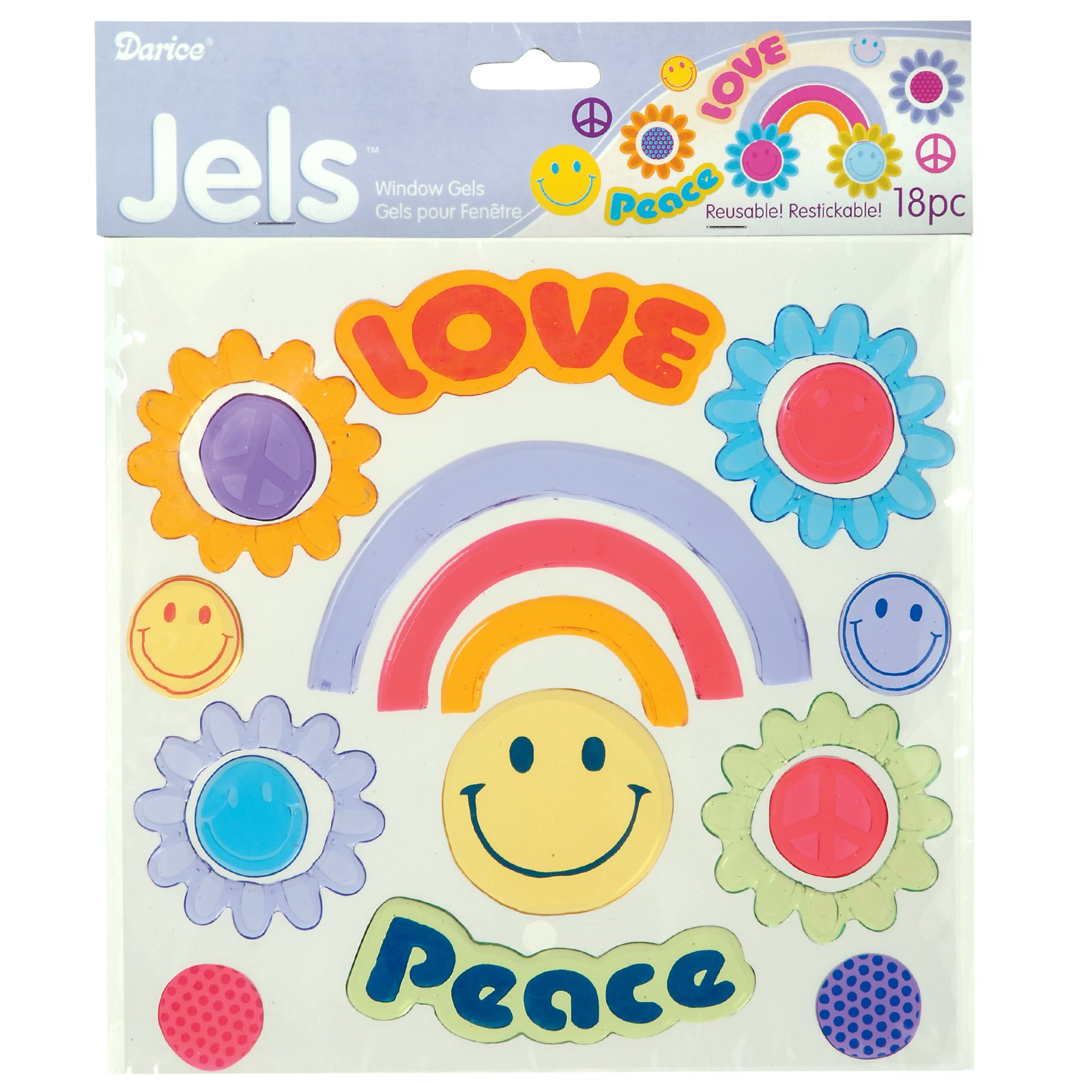 Image of Peace and Love Window Gels