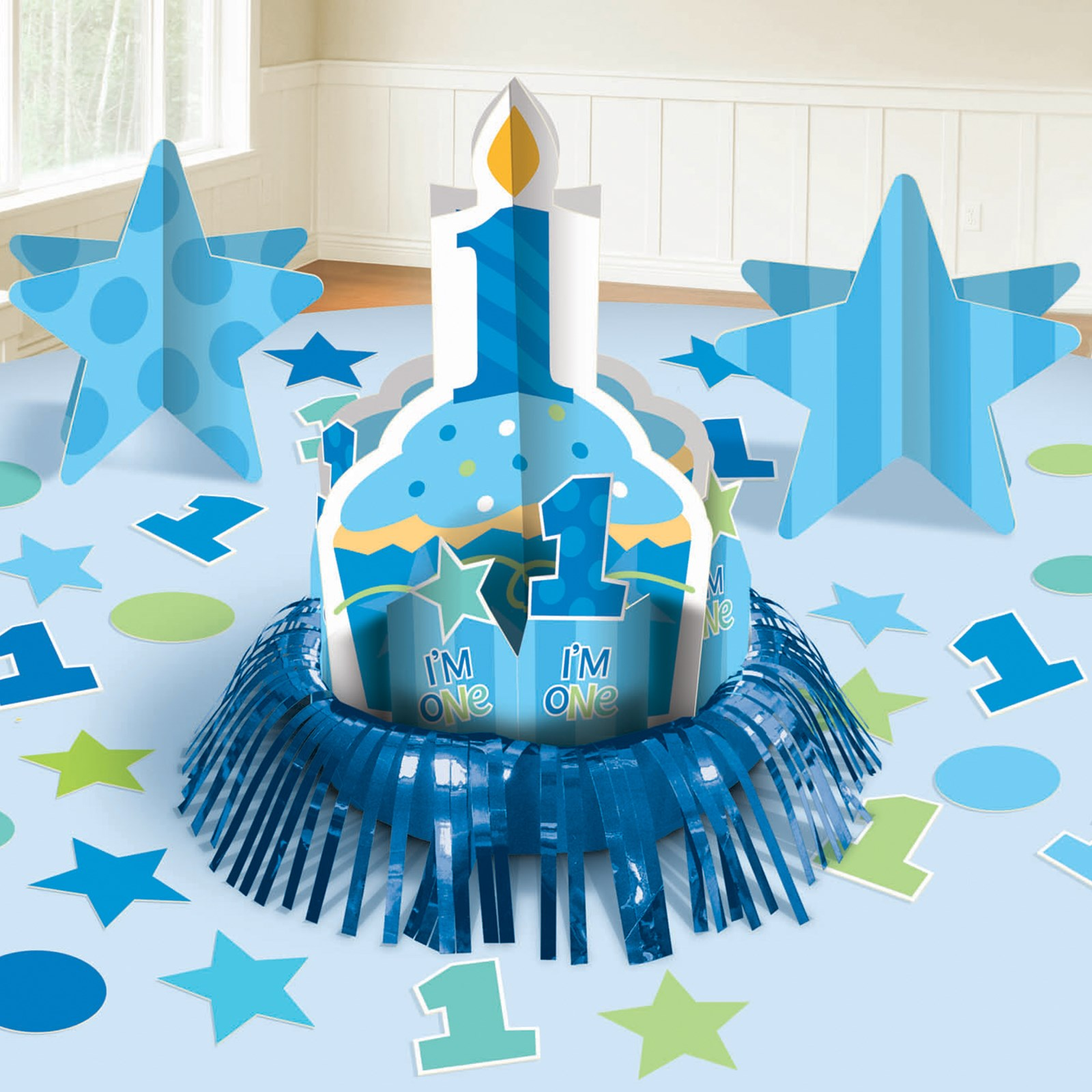 First Birthday Boy Table Decorating Kit