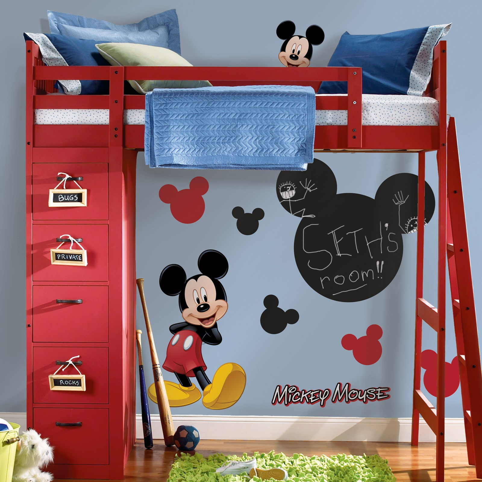 Disney Mickey Mouse Chalkboard Peel and Stick Wall Decals