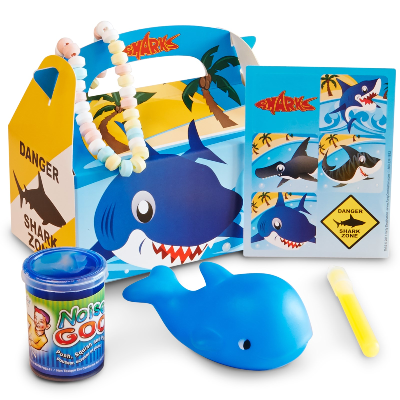 Sharks Filled Party Favor Box