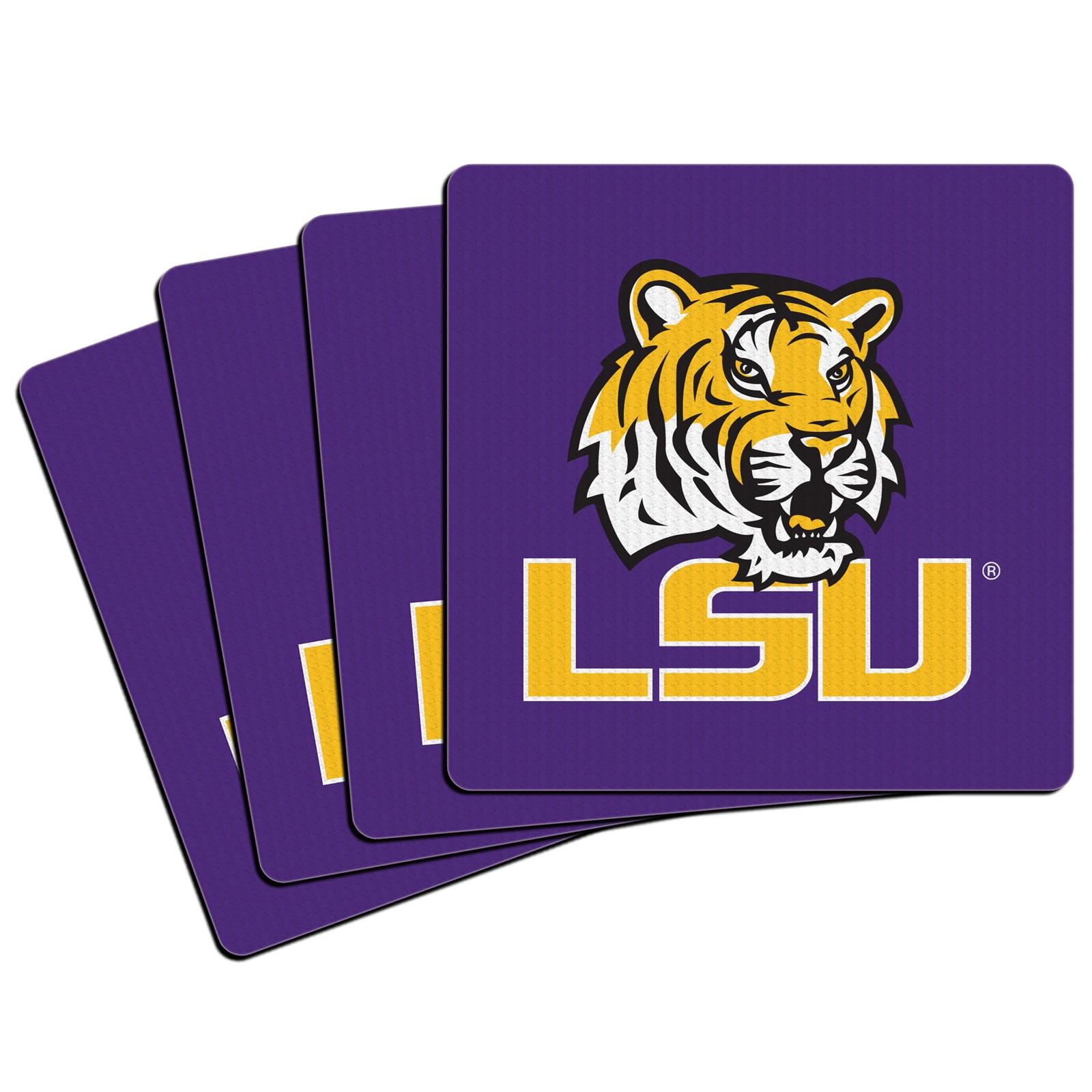 Image of Louisiana State Tigers (LSU) Neoprene Coasters