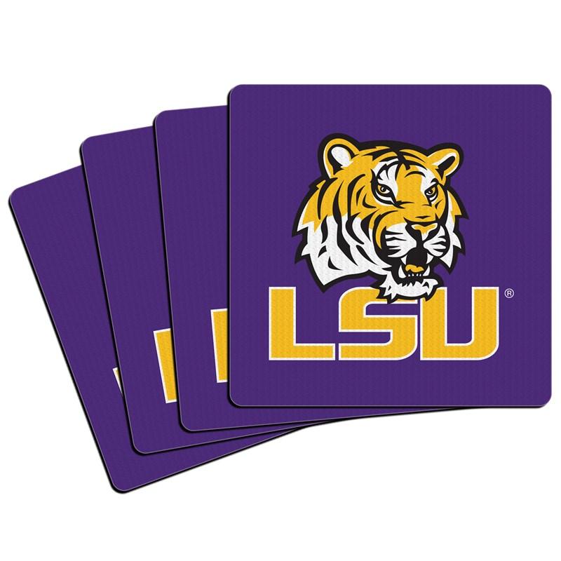 Louisiana State Tigers (LSU) Neoprene Coasters