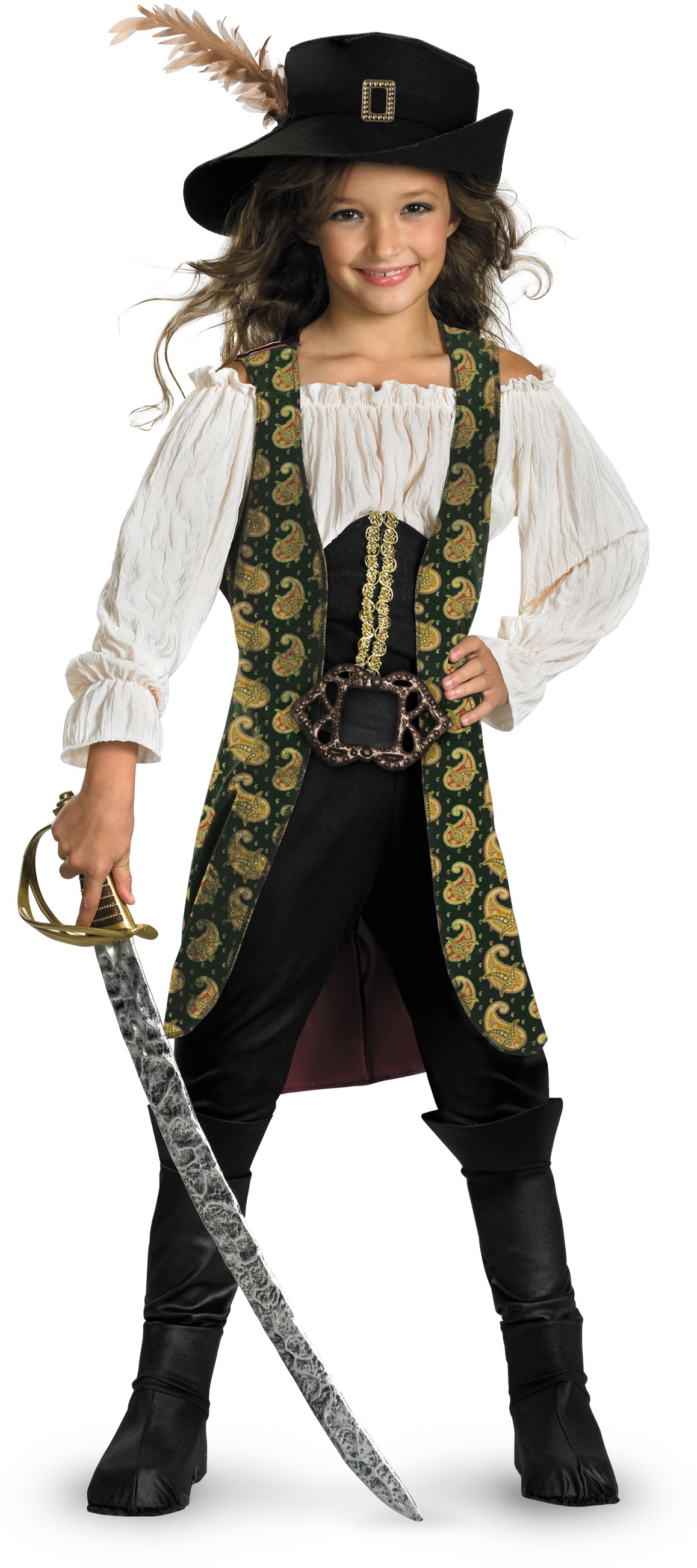 Pirates of the Caribbean 4 On Stranger Tides - Angelica Deluxe Child Costume Small (4/6x)