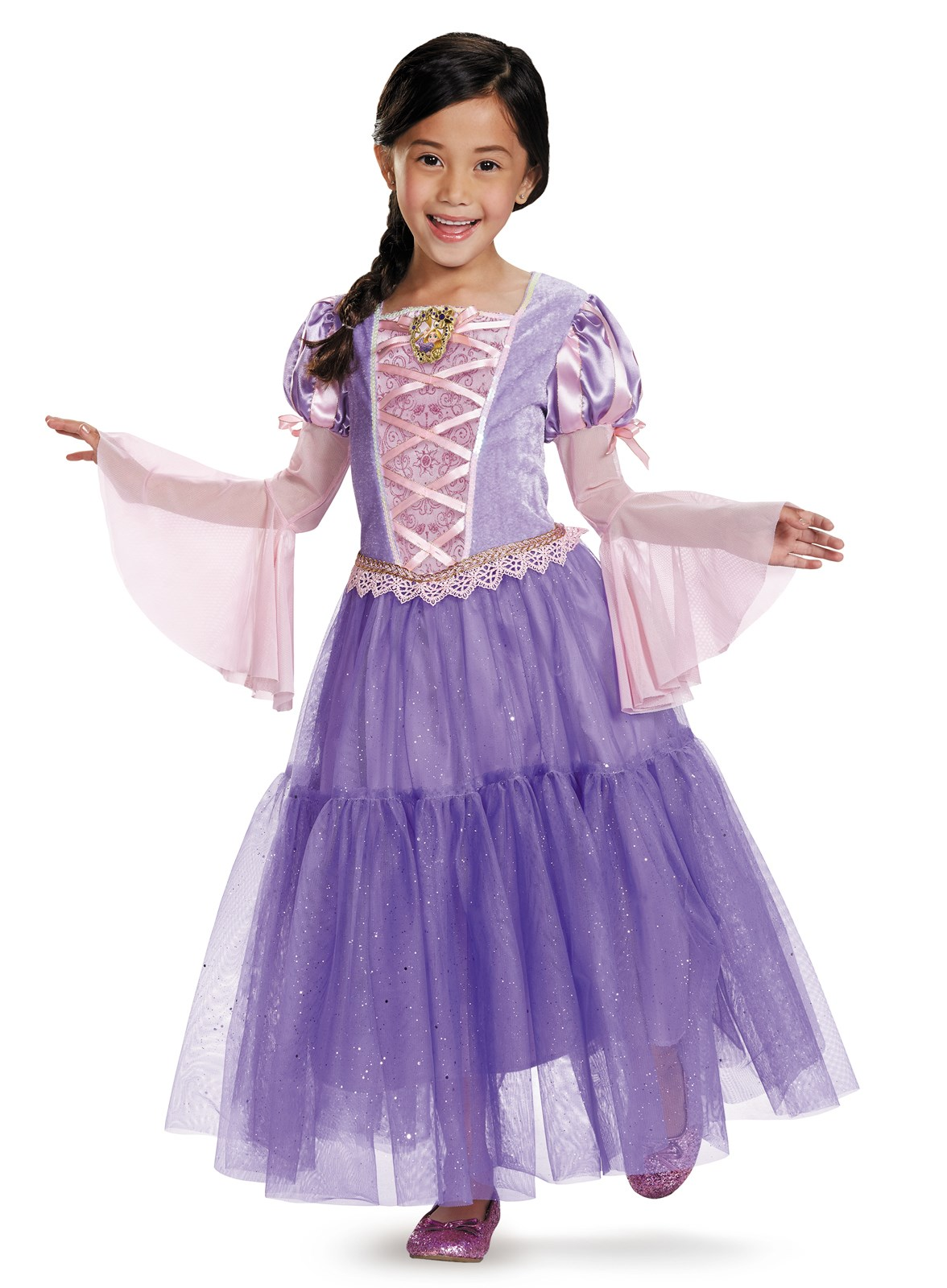 Tangled - Rapunzel Lame Deluxe Toddler / Child Costume Small (4/6x)