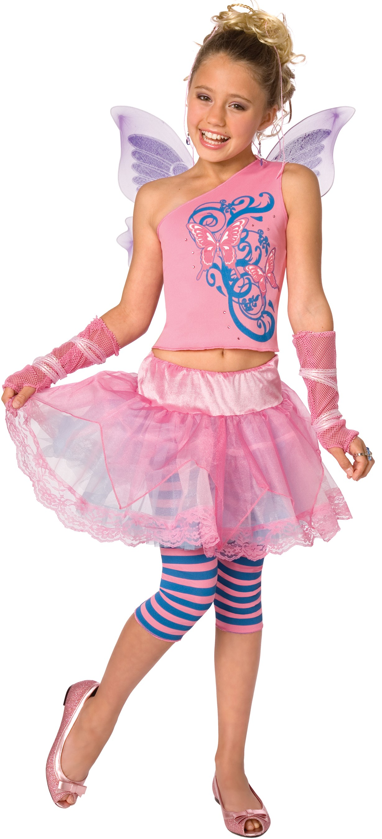 Butterfly Fairy Kids Costume Medium