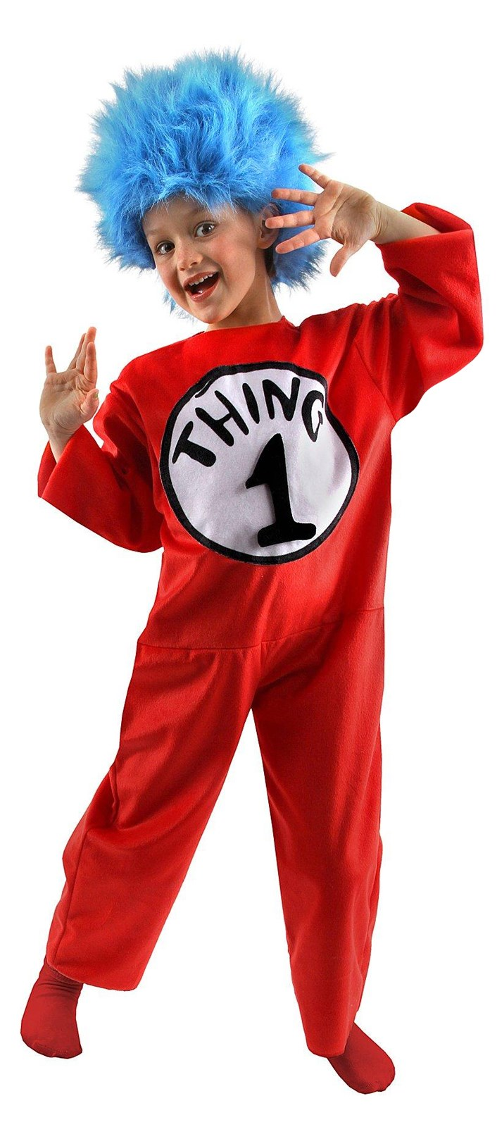 Dr. Seuss The Cat in the Hat - Thing 1 or Thing 2 Child Costume S (4-6)