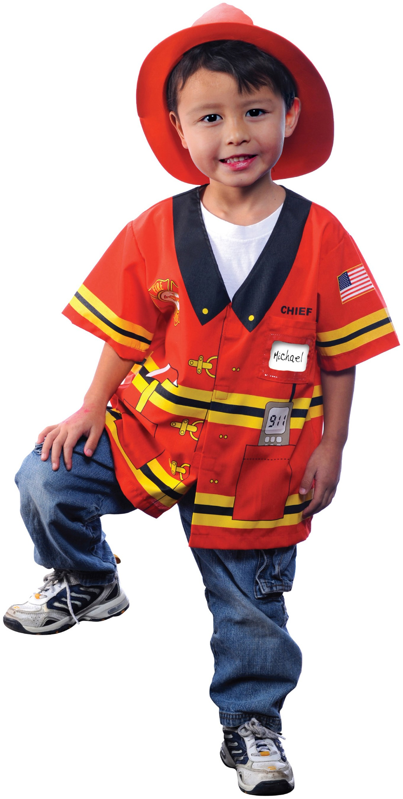My First Career Gear - Firefighter Toddler Costume Toddler 3/5