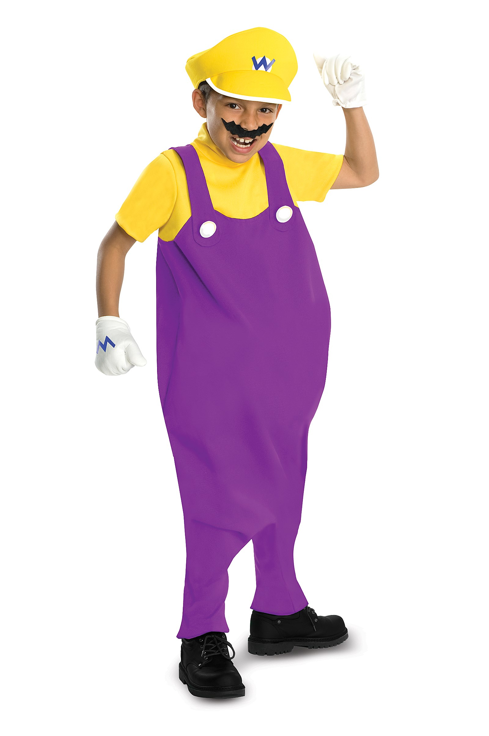 Super Mario Bros. - Wario Deluxe Toddler / Kids Costume Small (4/6)