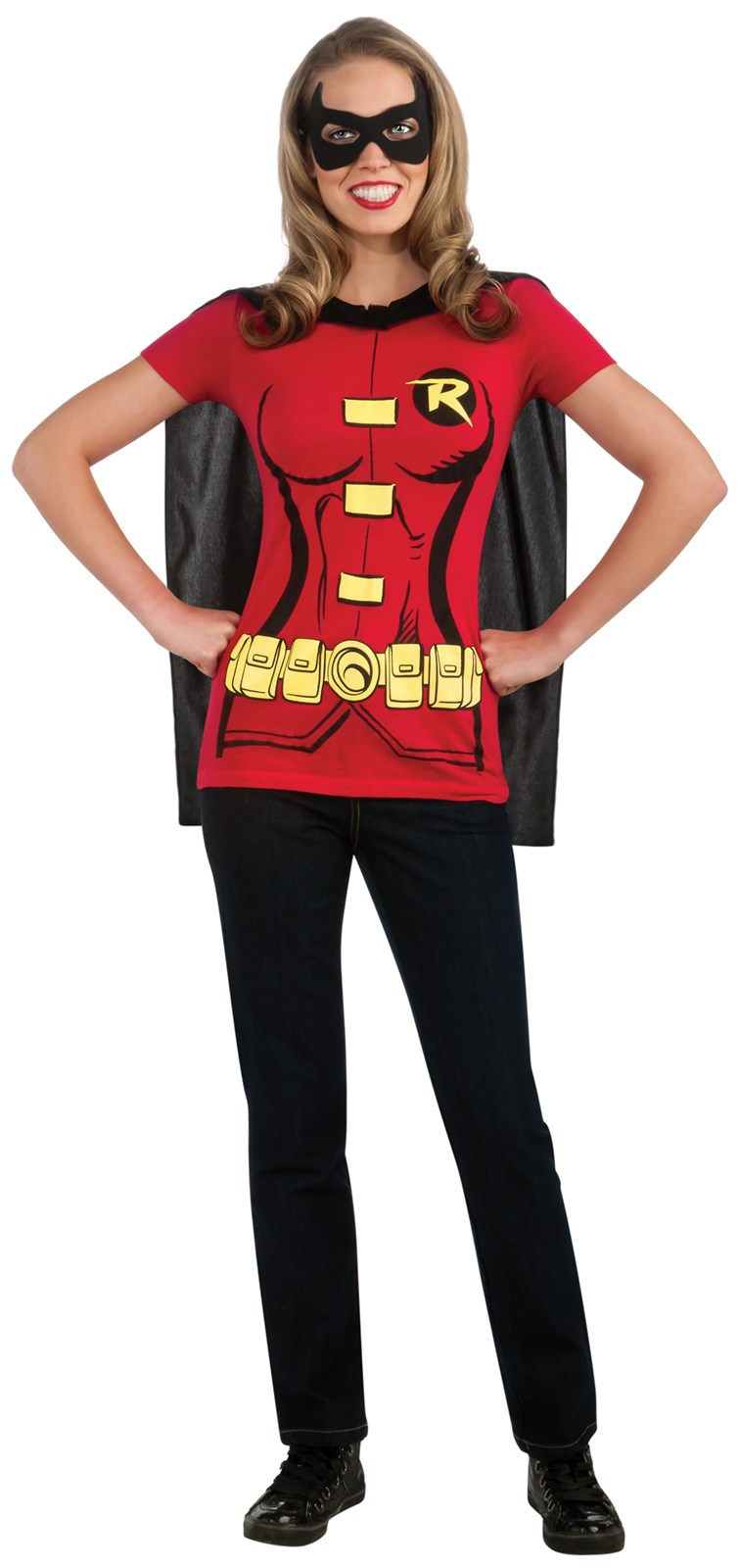 Robin (Female) T-Shirt Adult Costume Kit Small
