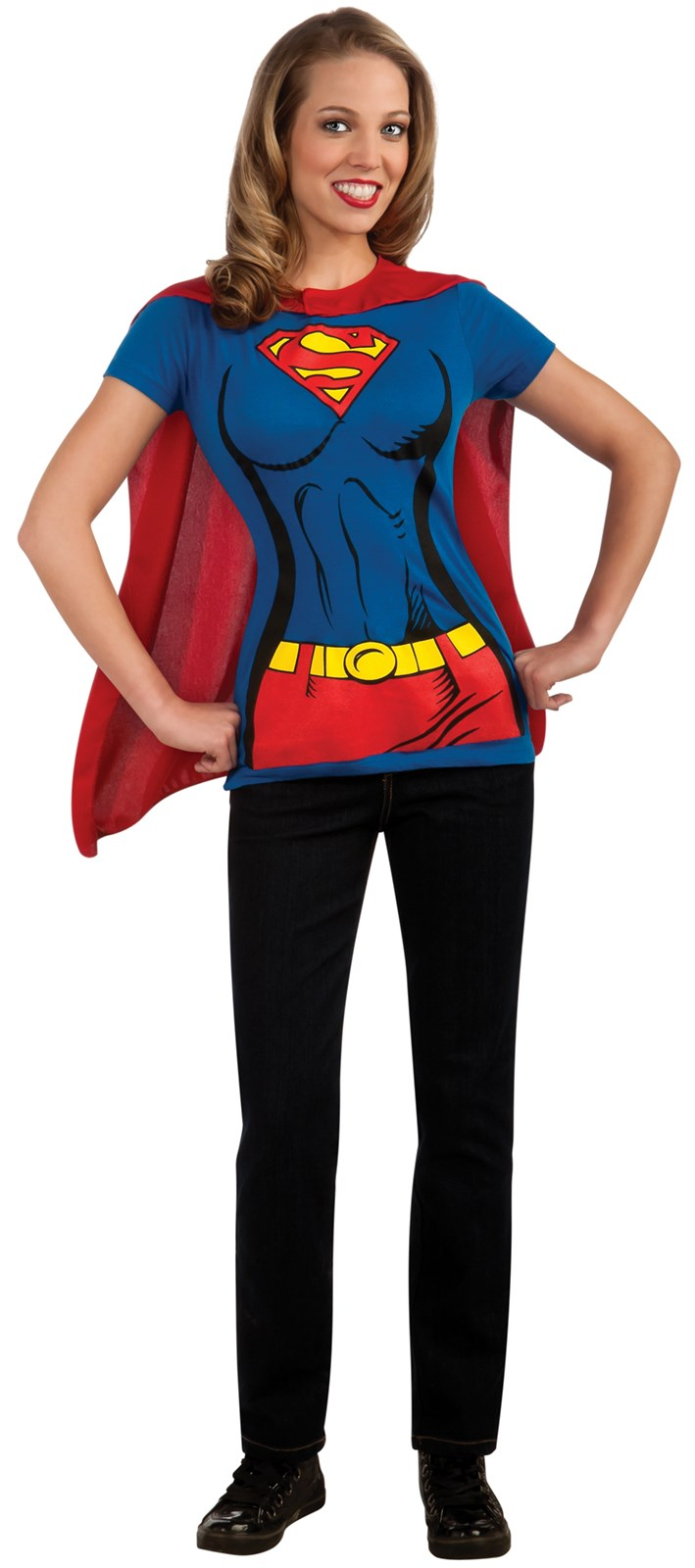 Supergirl T-Shirt Adult Costume Kit Large