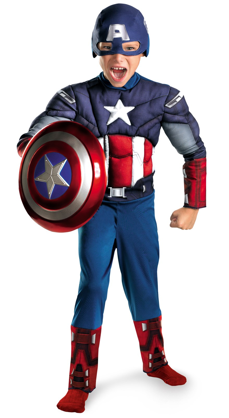The Avengers Captain America Classic Muscle Chest Child Costume 7/8