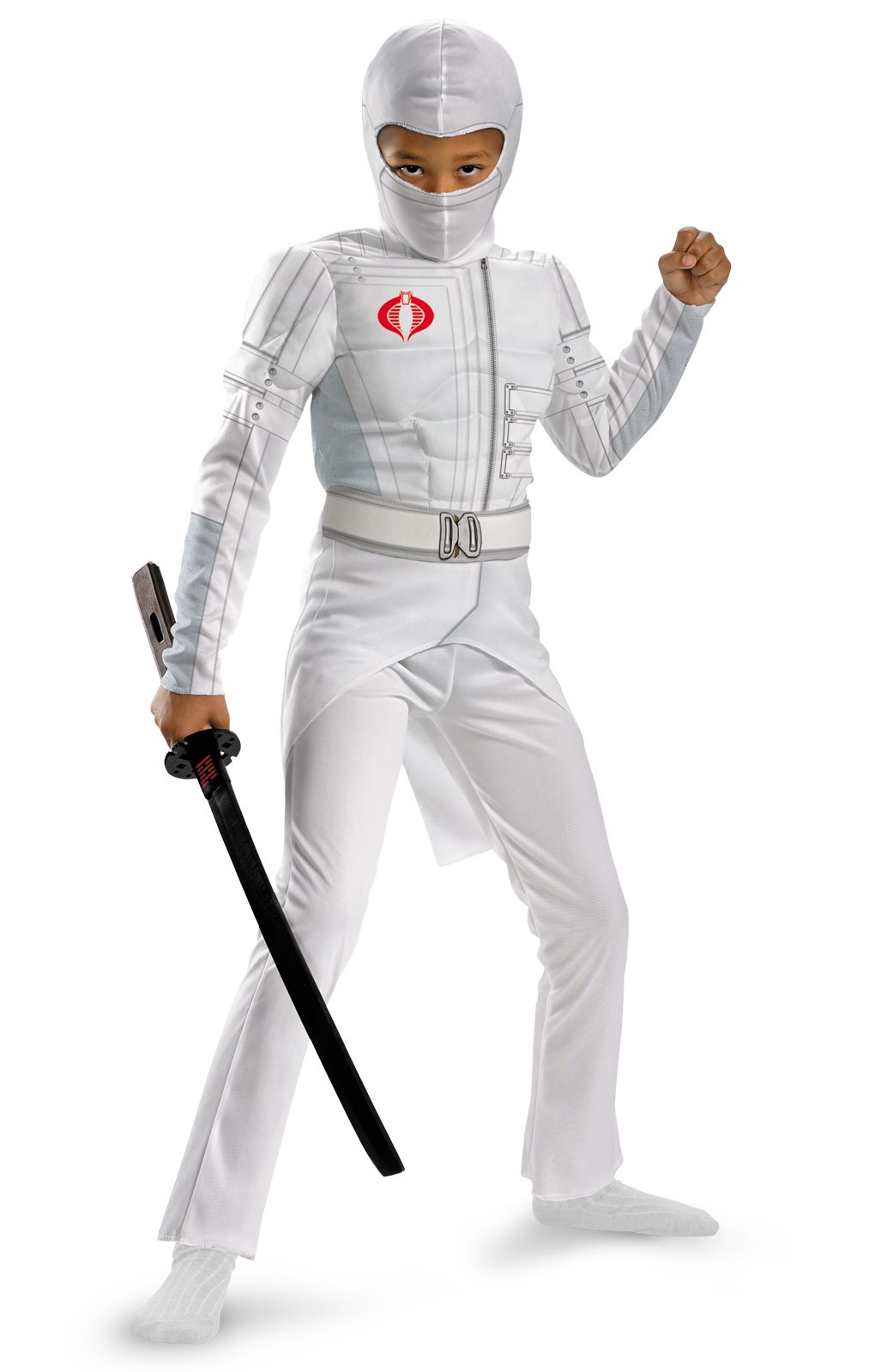 G.I. Joe Retaliation Storm Shadow Light Up Deluxe Muscle Chest Kids Costume 7/8